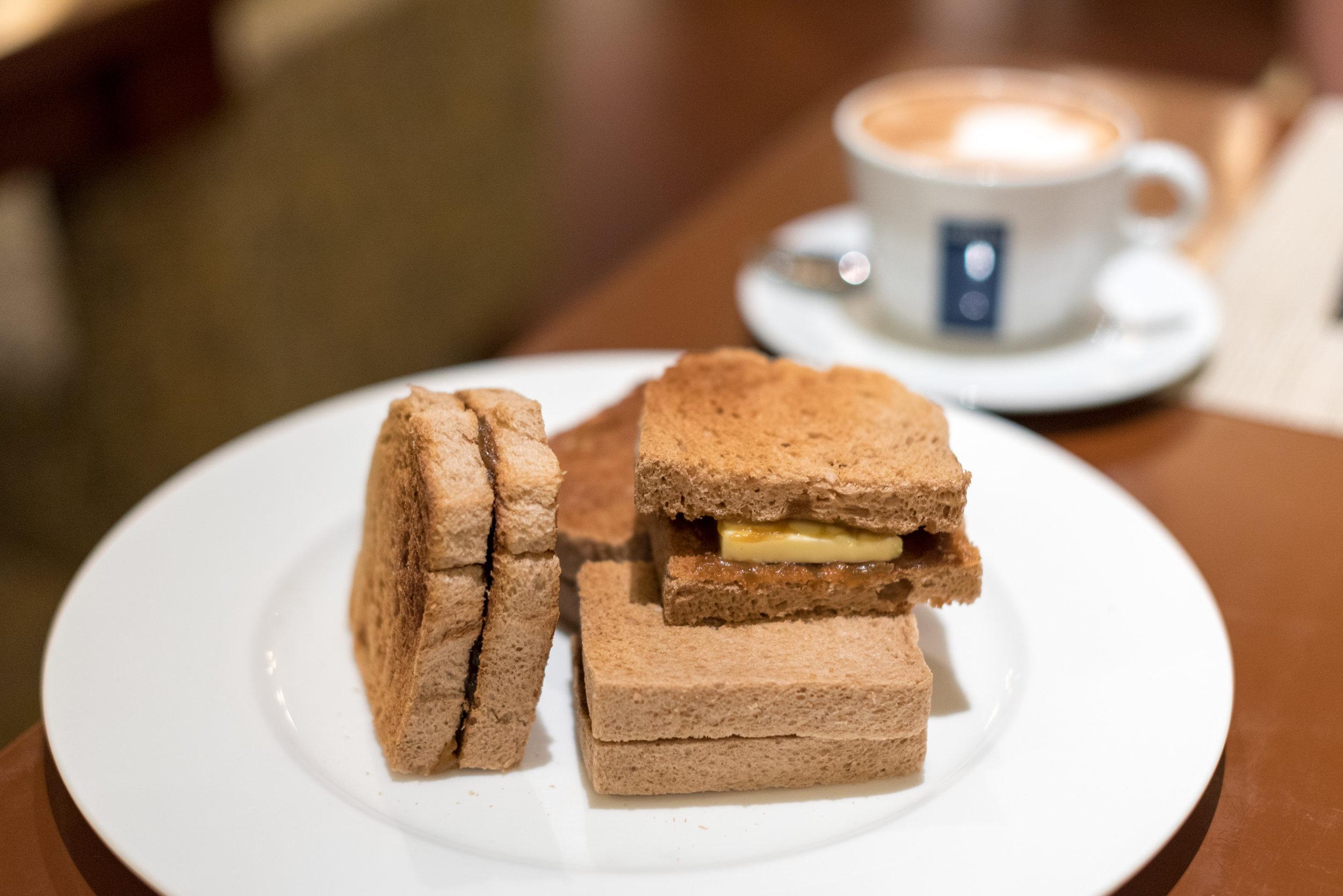 Kaya and Butter Toast  One-Ninety Restaurant - Four Seasons Hotel Singapore