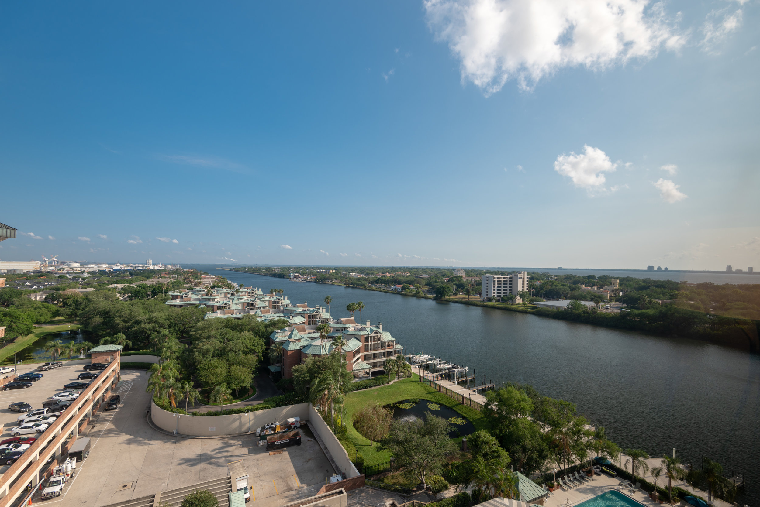 View from Bedroom  Waterview Room - The Westin Tampa Waterside