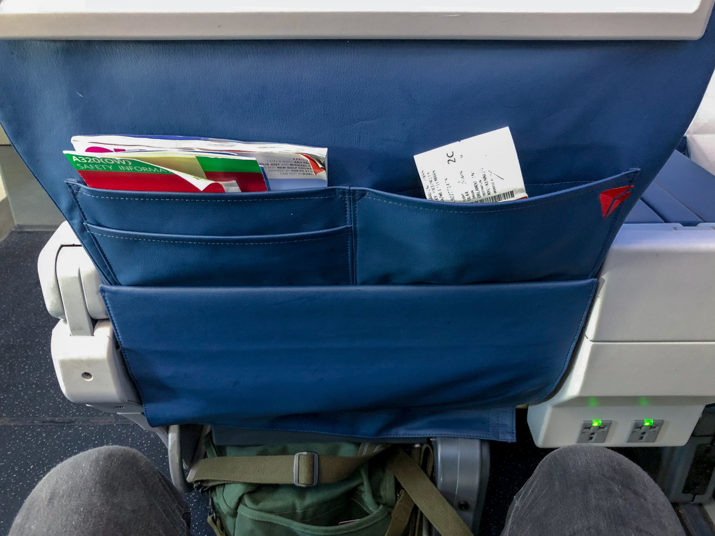 Seat Pocket  Delta Air Lines First Class - MCO to JFK