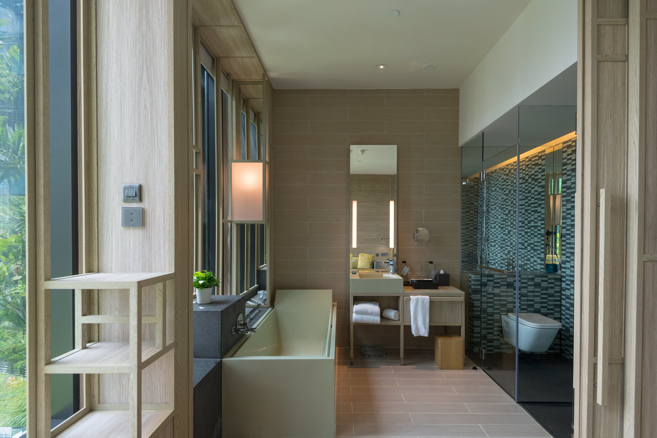 Bathroom with Bathtub  Orchid Club Deluxe Room - PARKROYAL on Pickering