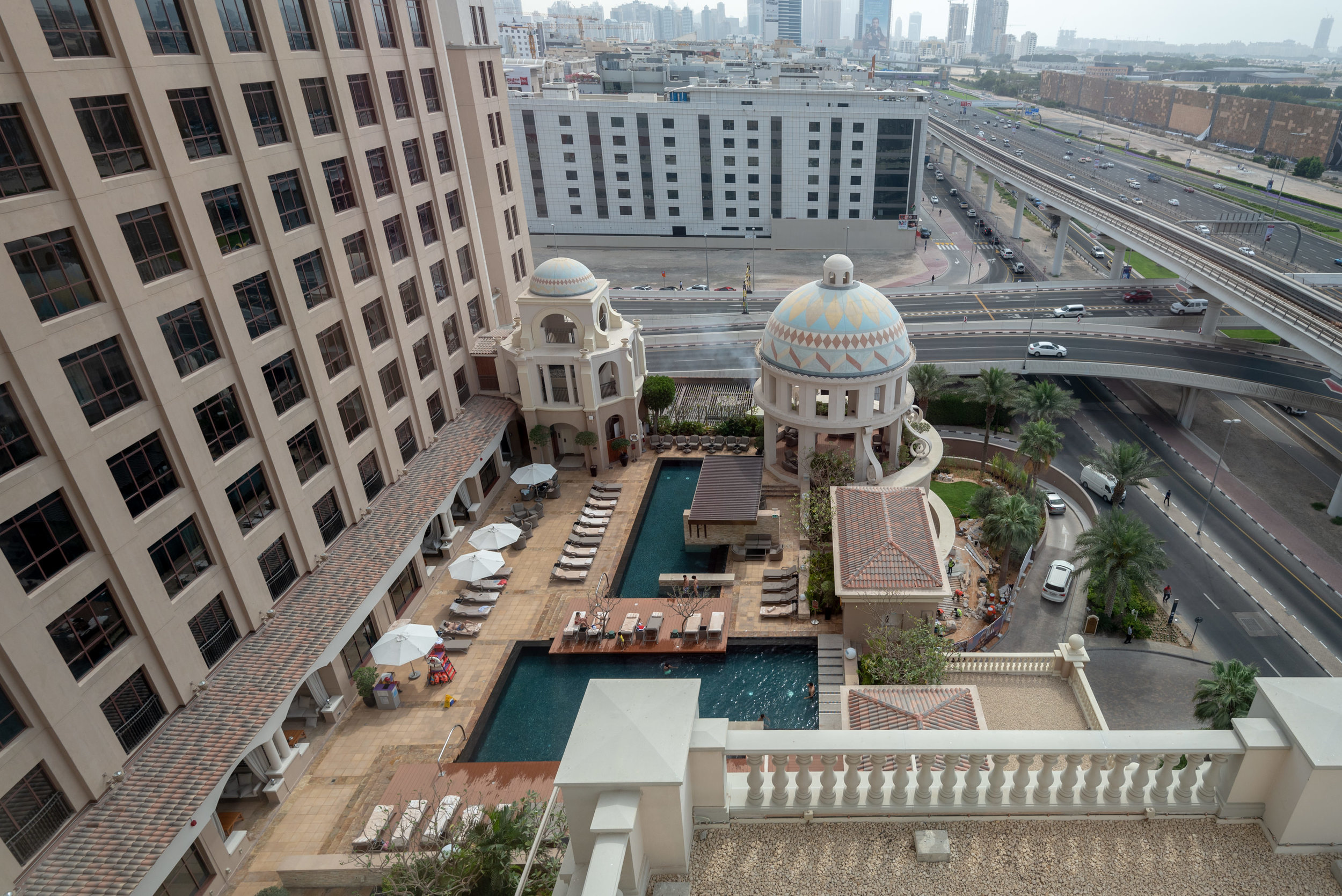 View from Dining and Meeting Room  Corner Suite - Kempinski Hotel Mall of the Emirates