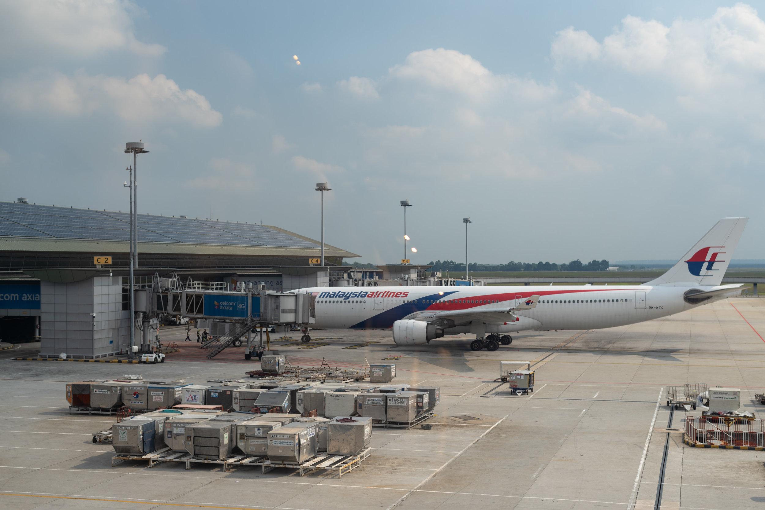 View from the Lounge  Singapore Airlines SilverKris Lounge - Kuala Lumpur International Airport (KLIA)