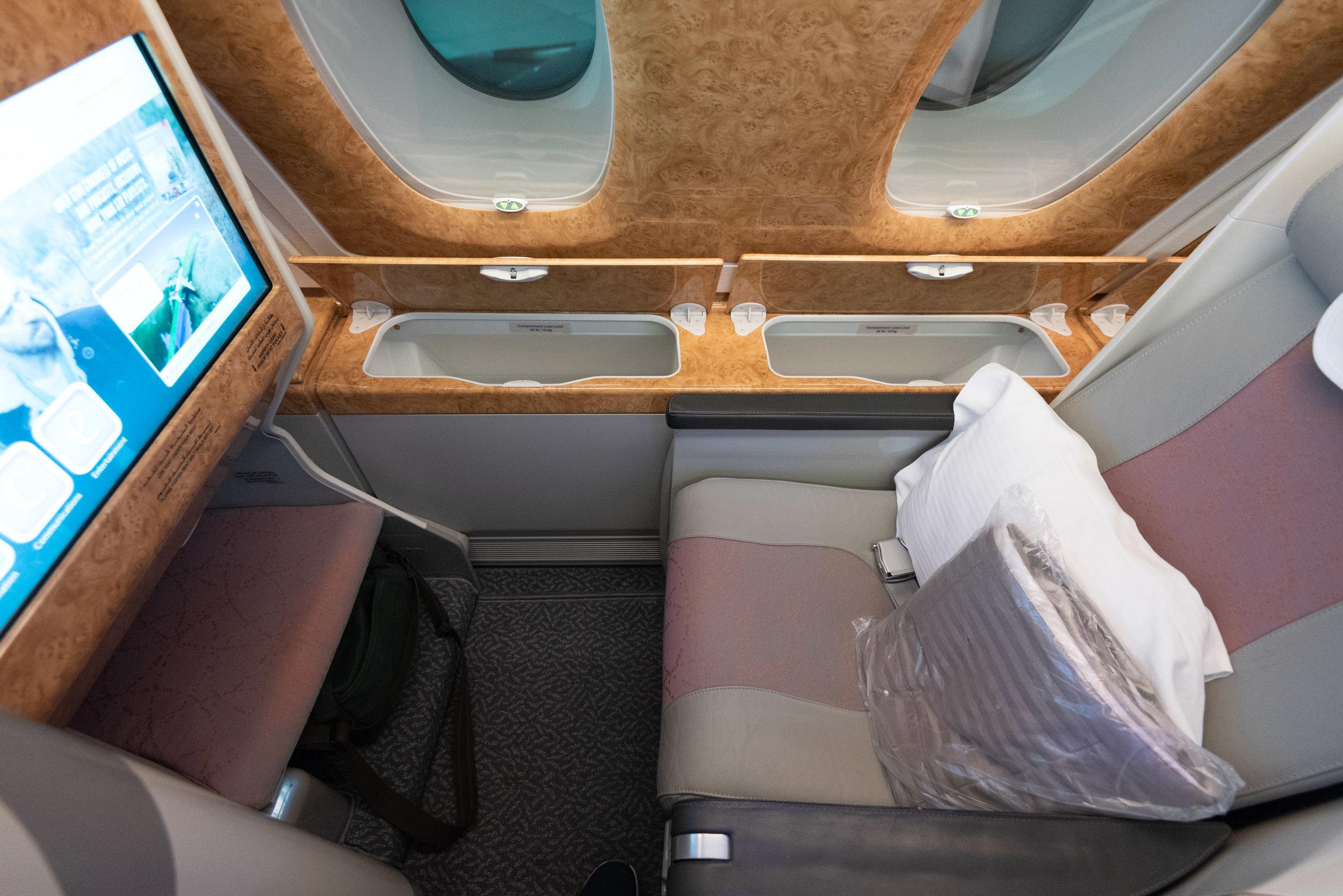 Seat 11K  Emirates Business Class EK202 A380-800 - JFK to DXB