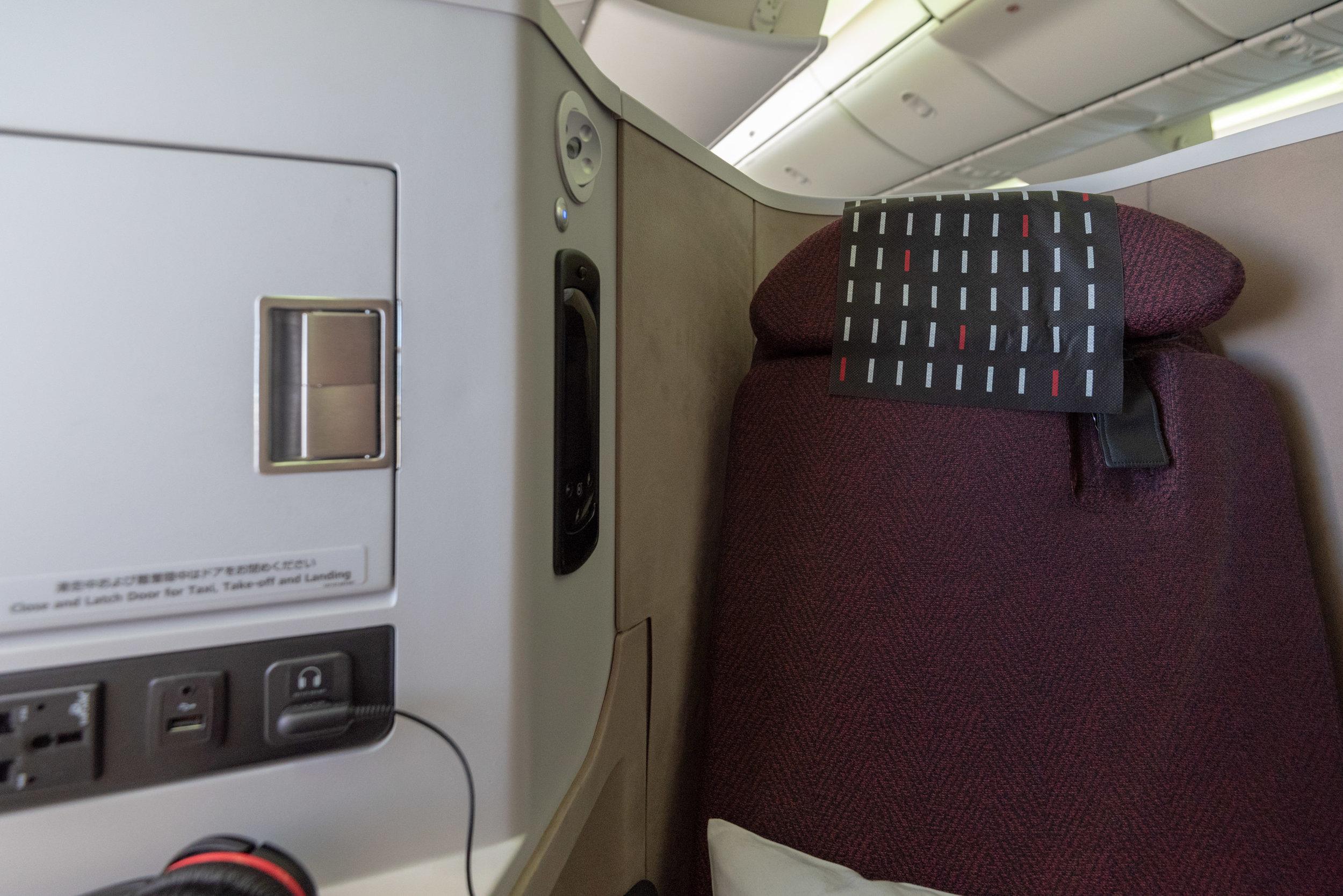 3-Point Seat Belt Japan Airlines Business Class JL724 - KUL to NRT