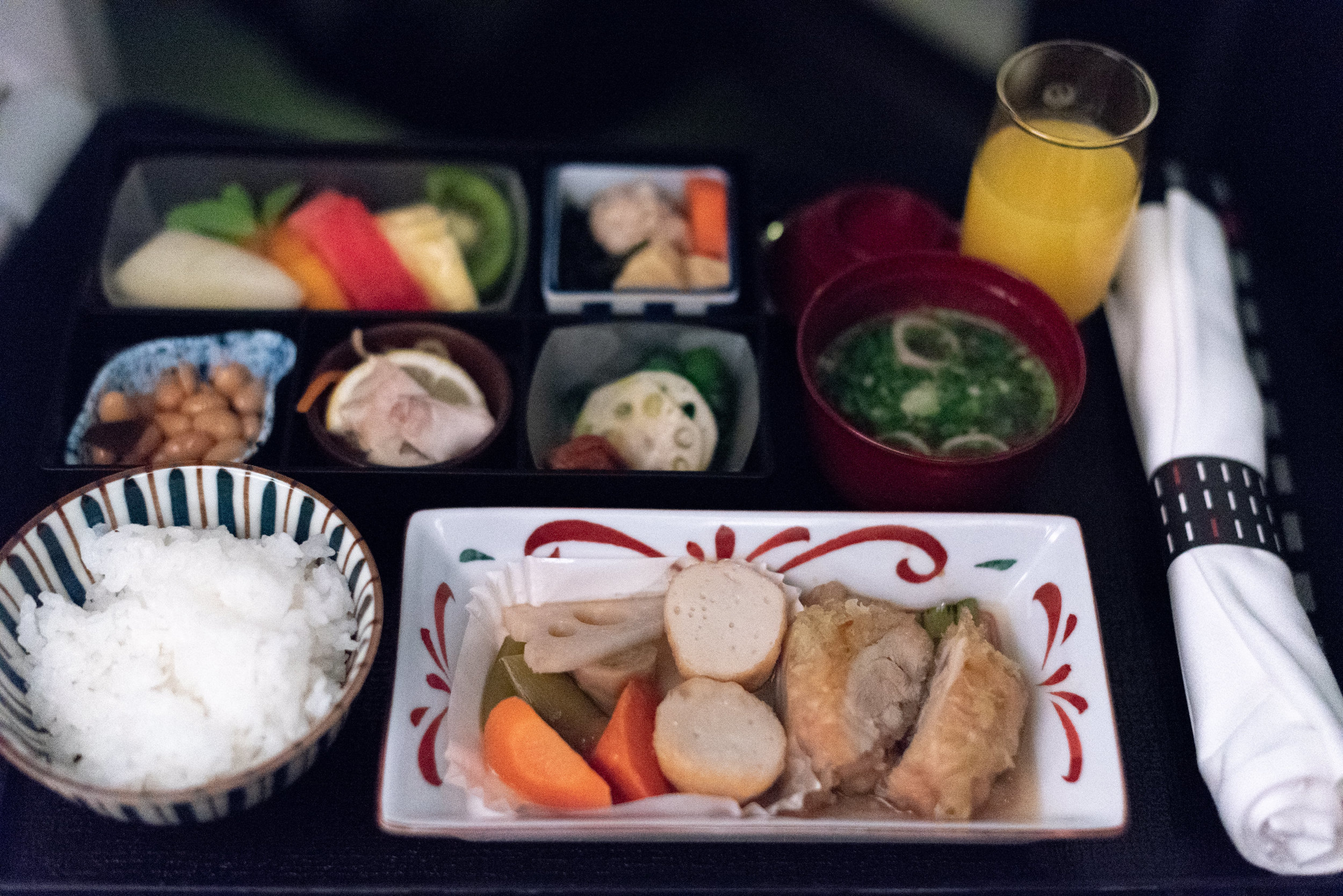 Japanese Breakfast Japan Airlines Business Class JL724 - KUL to NRT