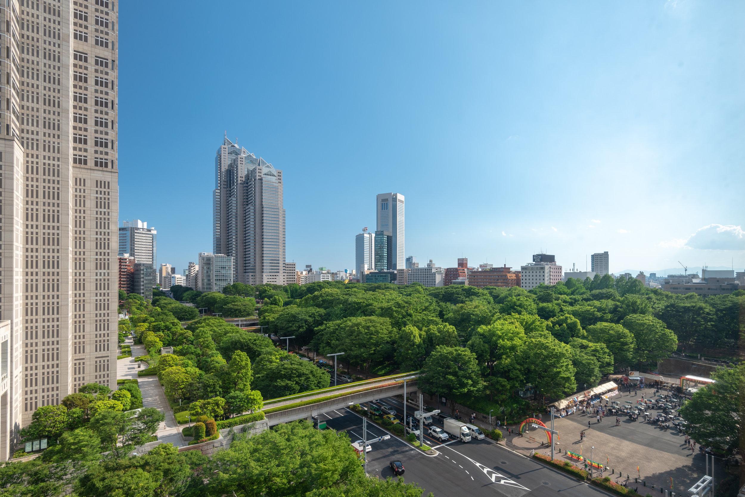 View from the Room  Regency Club Room - Hyatt Regency Tokyo