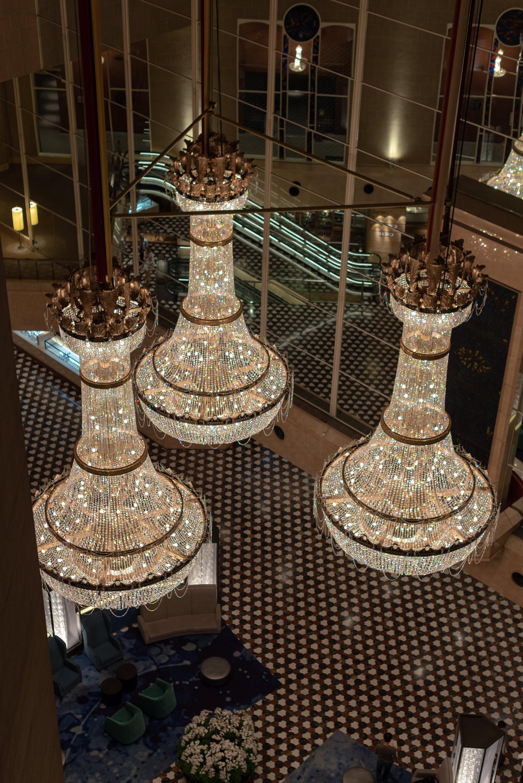 Chandeliers in the Lobby  Hyatt Regency Tokyo