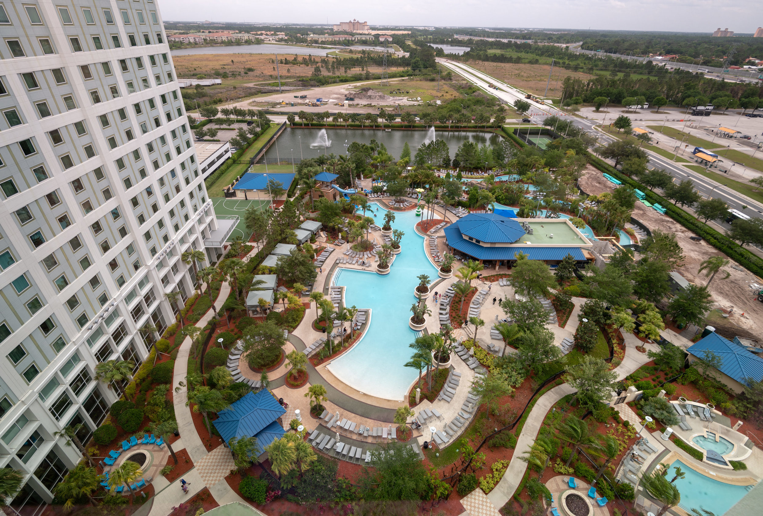 View from Bedroom  Pool View Room - Hilton Orlando