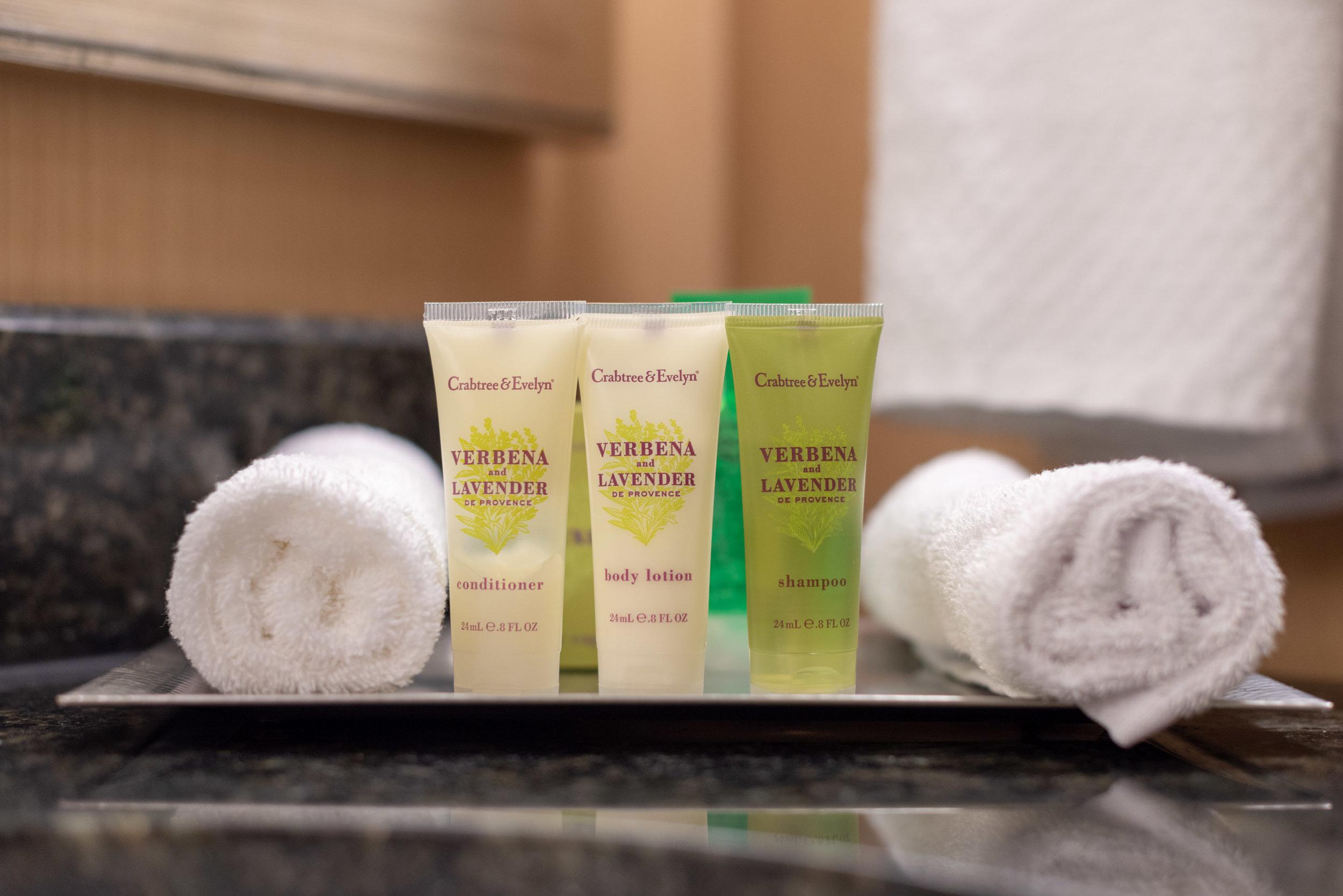 Bath Amenities from Crabtree & Evelyn  Pool View Room - Hilton Orlando