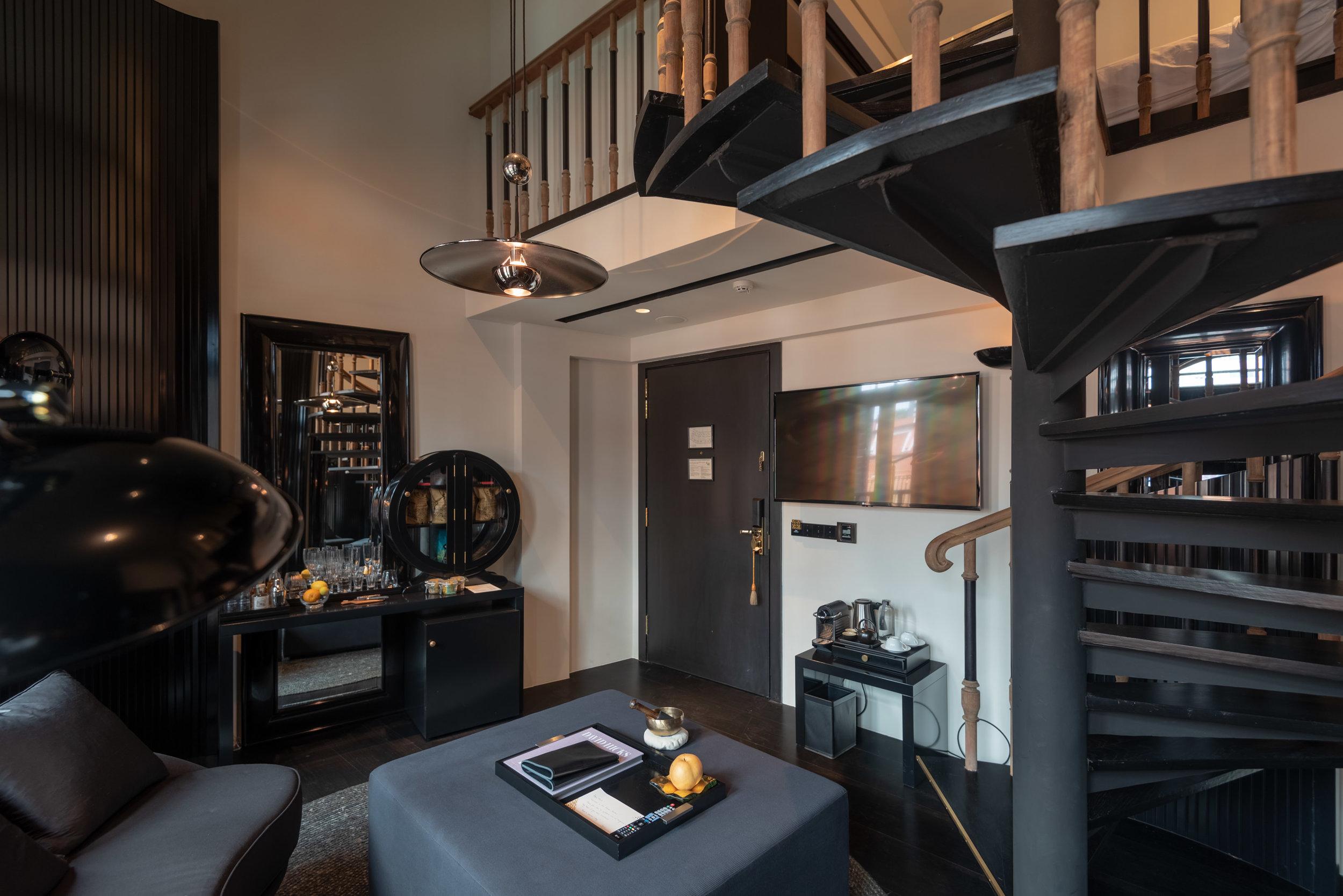Living Area (Lower Level)  Duxton Duplex Suite - Six Senses Duxton