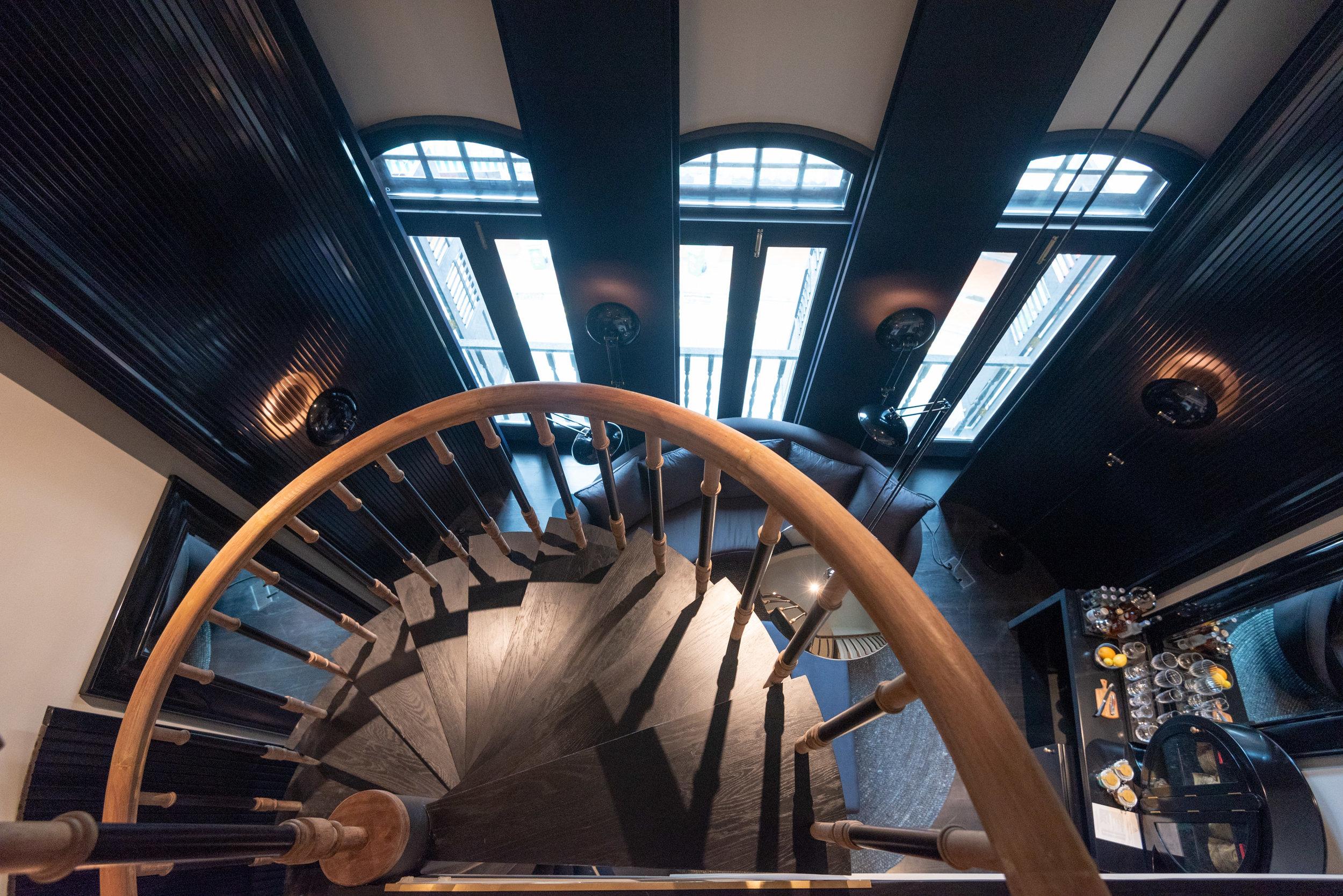 Spiral Staircase  Duxton Duplex Suite -Six Senses Duxton