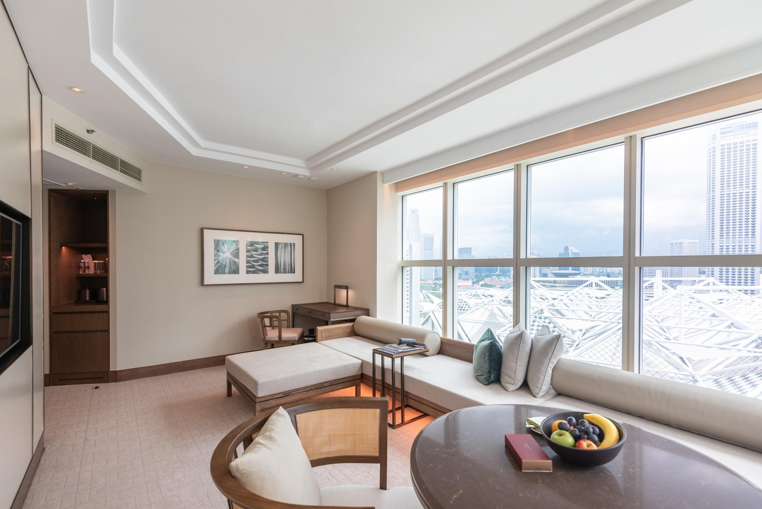 Living Room  Centennial Suite - Conrad Centennial Singapore