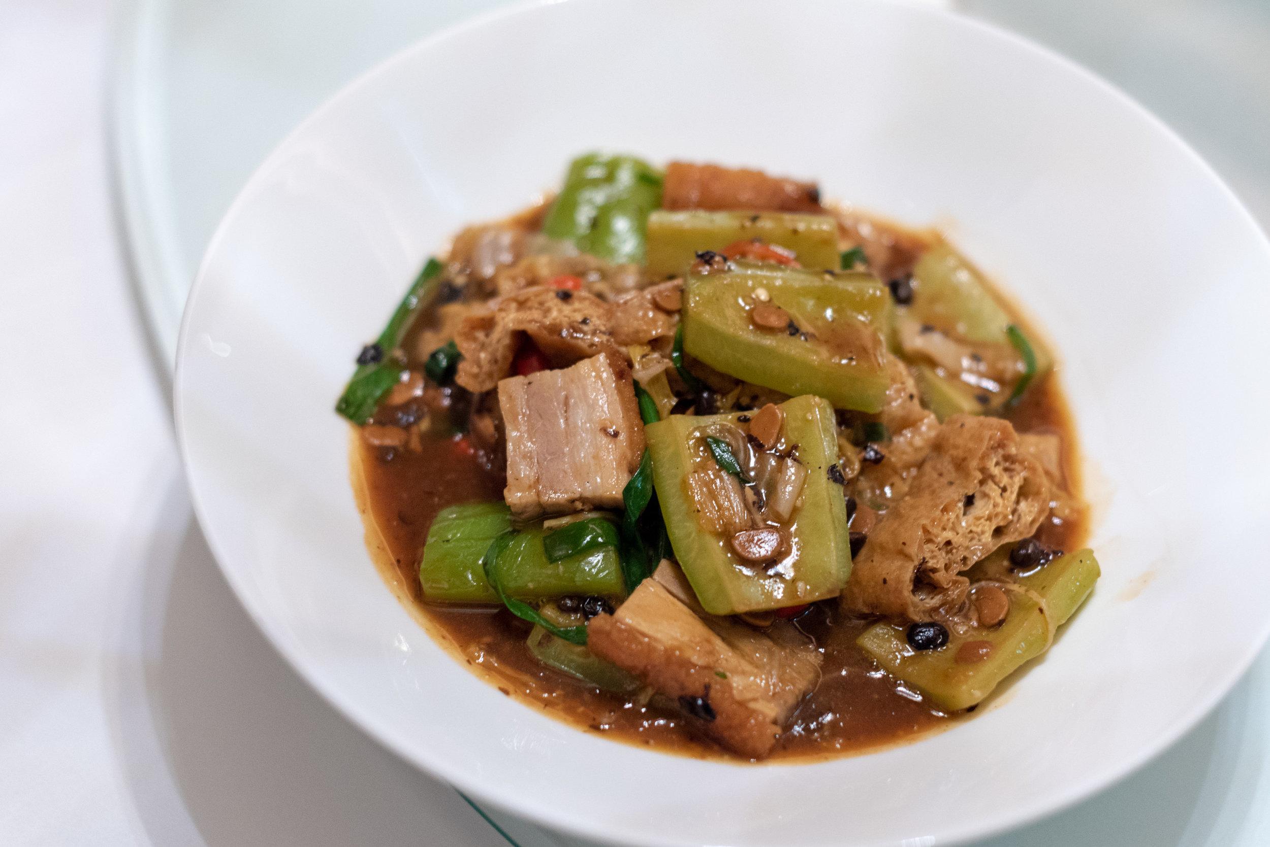 Home Style Crispy Pork Stir-fry (S$16++)  Madame Fan - NCO Club at the JW Marriott Singapore South Beach