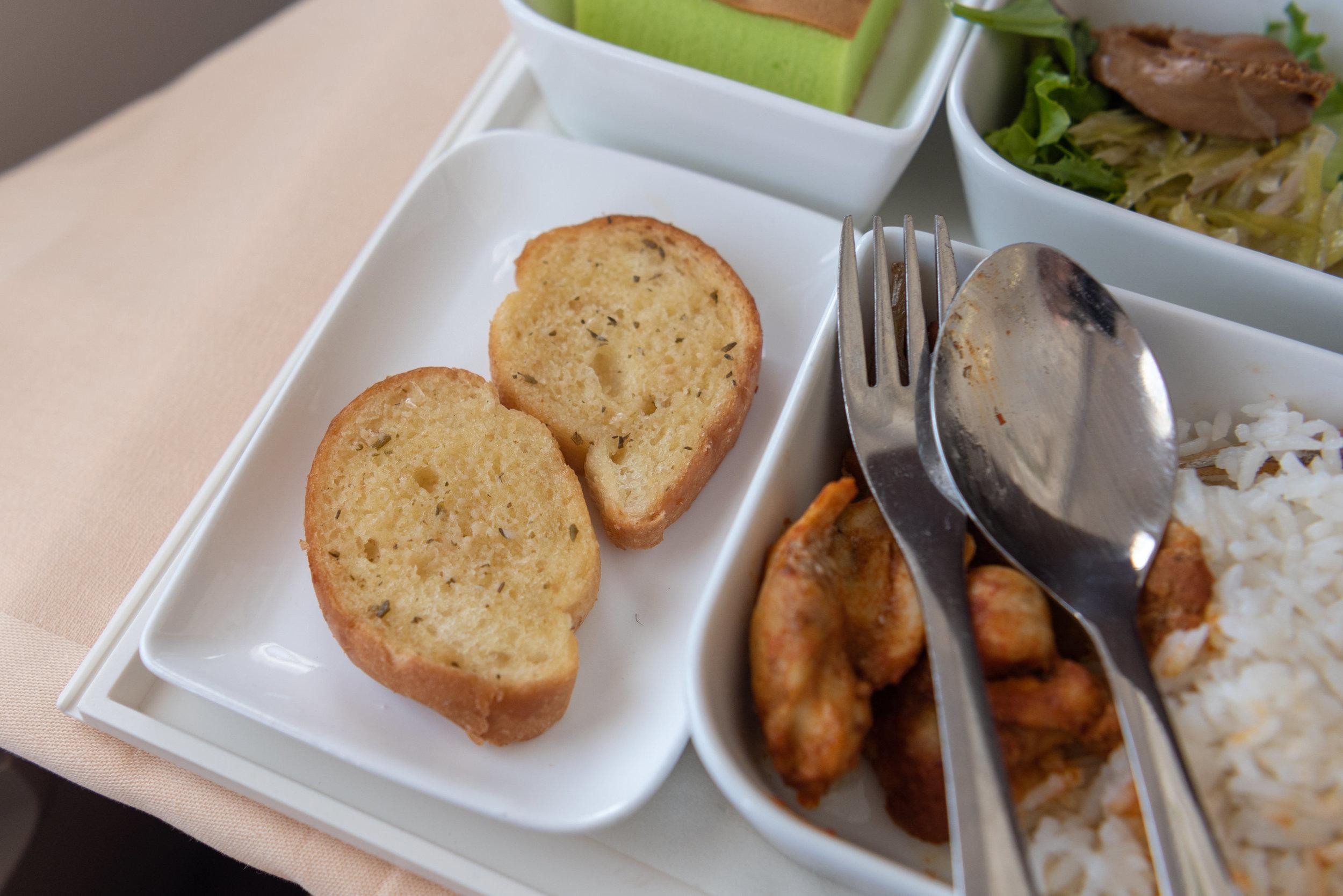 Garlic Bread  SilkAir Business Class MI615 737-800 - REP to SIN