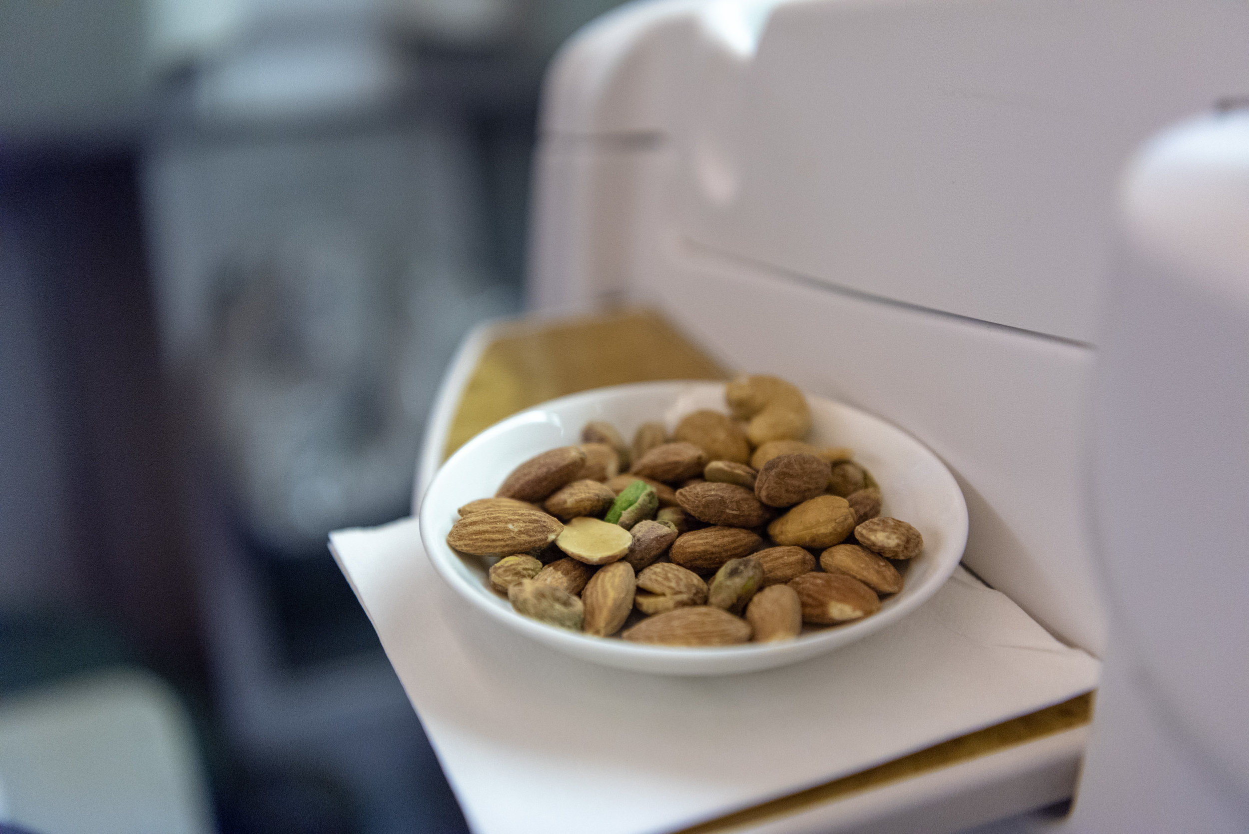Assorted Nuts  Emirates EK352 Business Class 777-300ER - DXB to SIN