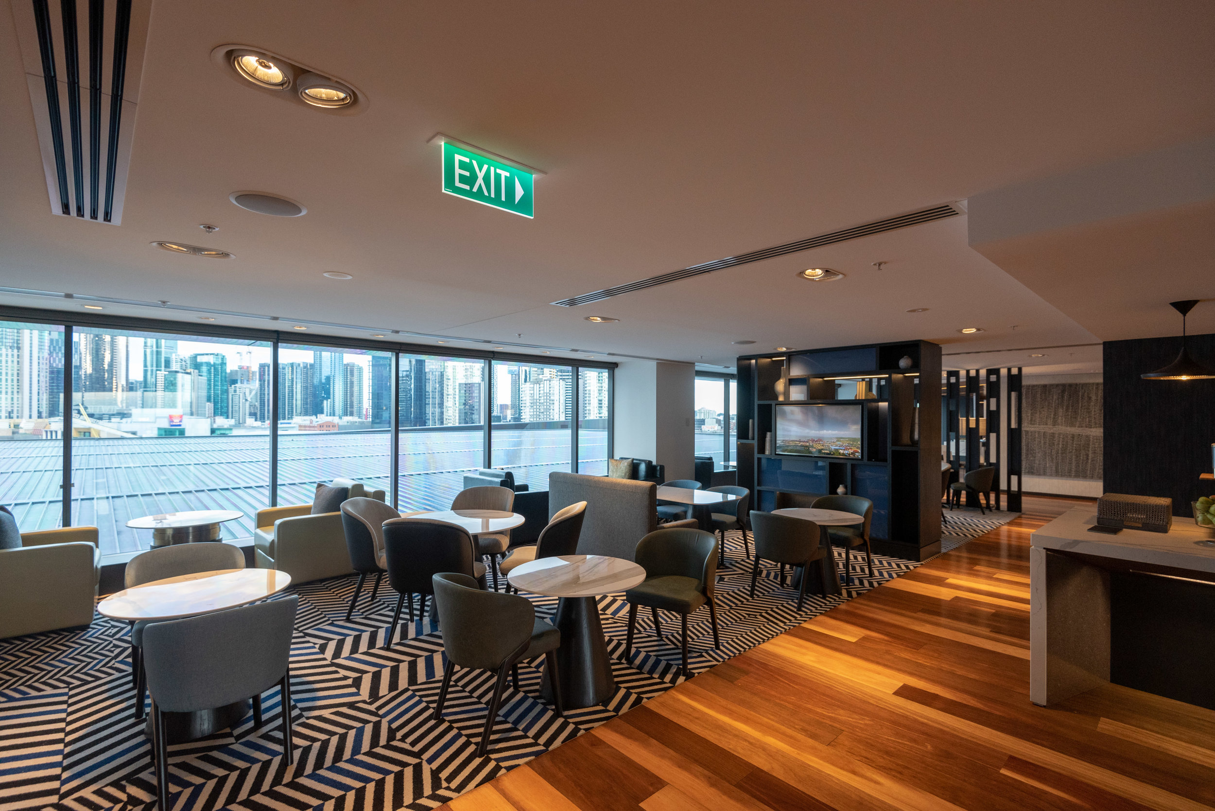 Refurbished Interiors  Pacific Club Lounge - Pan Pacific Melbourne