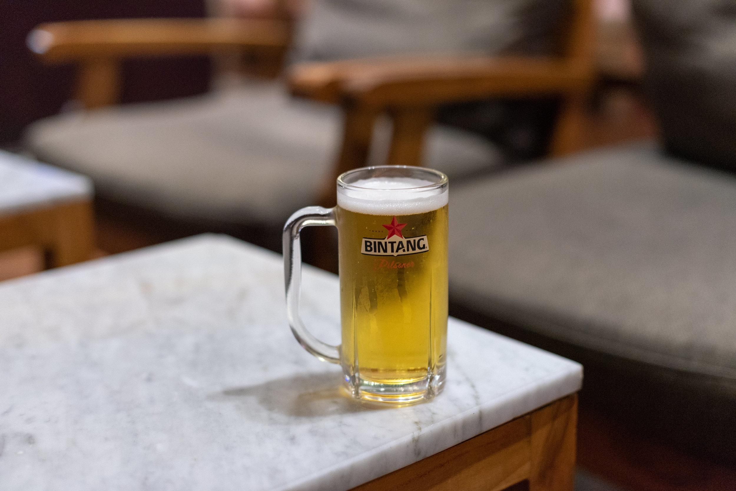Complimentary Draught Beer  T/G Lounge - Ngurah Rai International Airport (DPS)