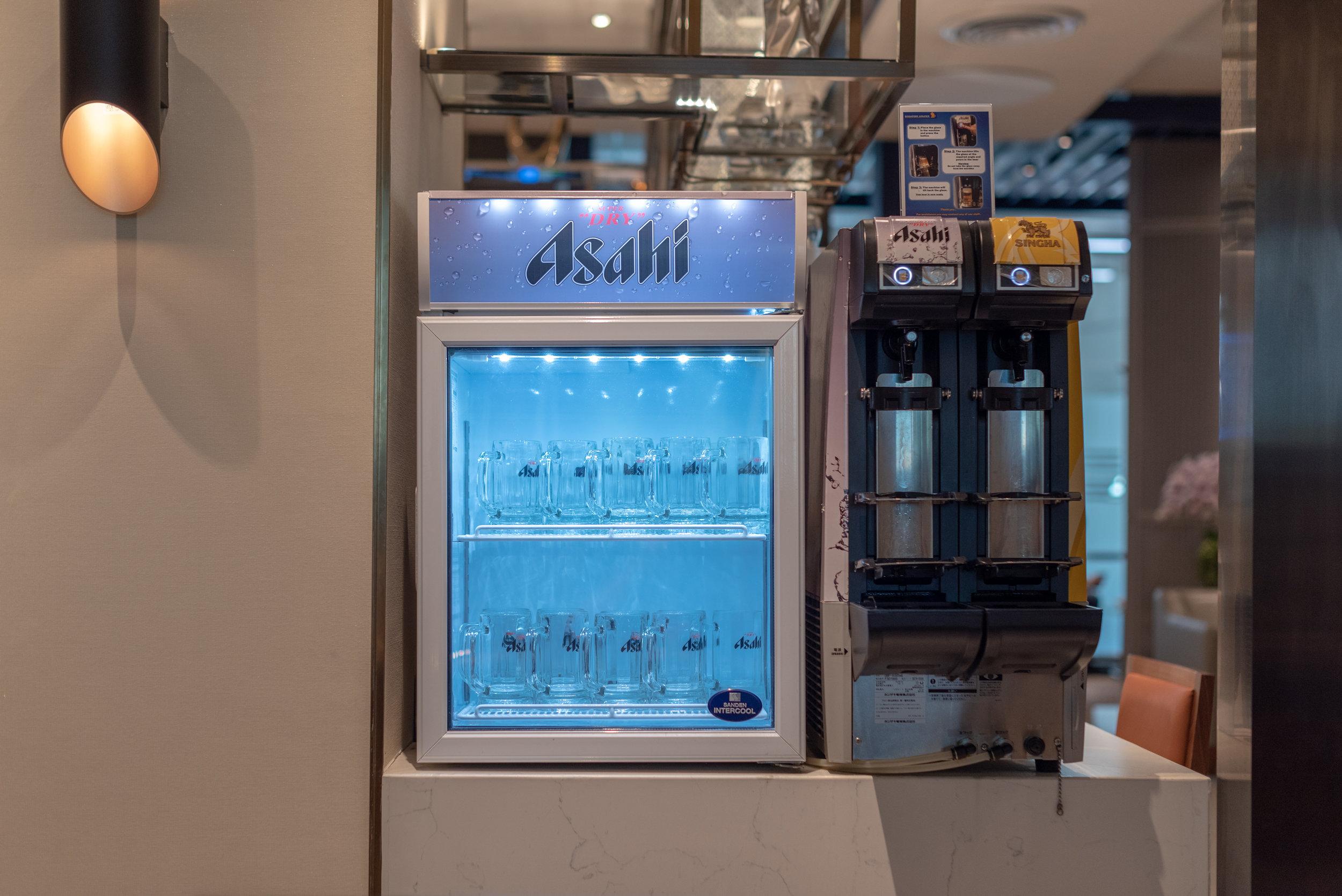 Self-service Beer Tap  Singapore Airlines SilverKris Lounge - Suvarnabhumi Airport (BKK)