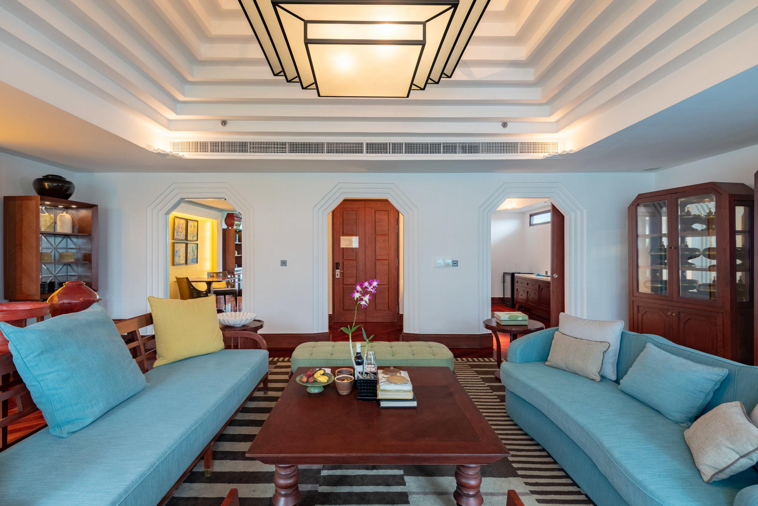 Living Room  Rooftop Garden Suite - Park Hyatt Siem Reap