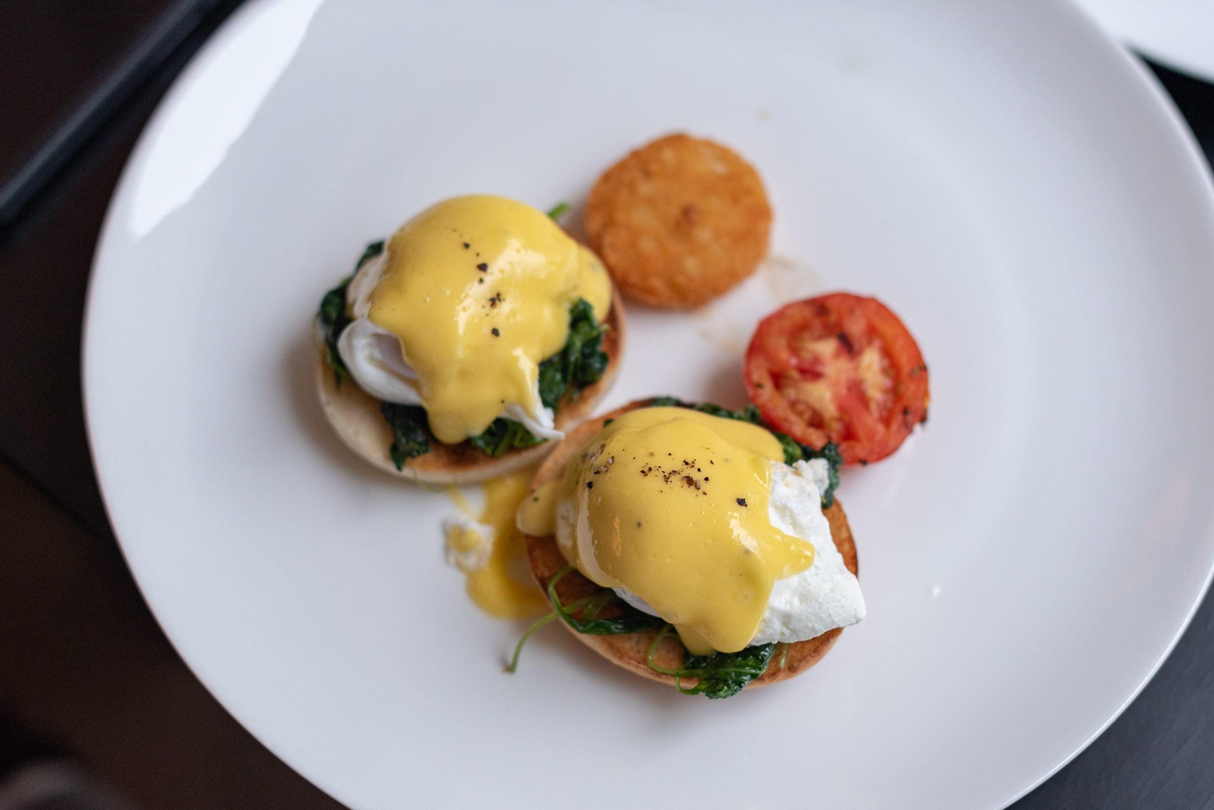 Eggs Benedict - Breakfast  The Dining Room - Park Hyatt Siem Reap