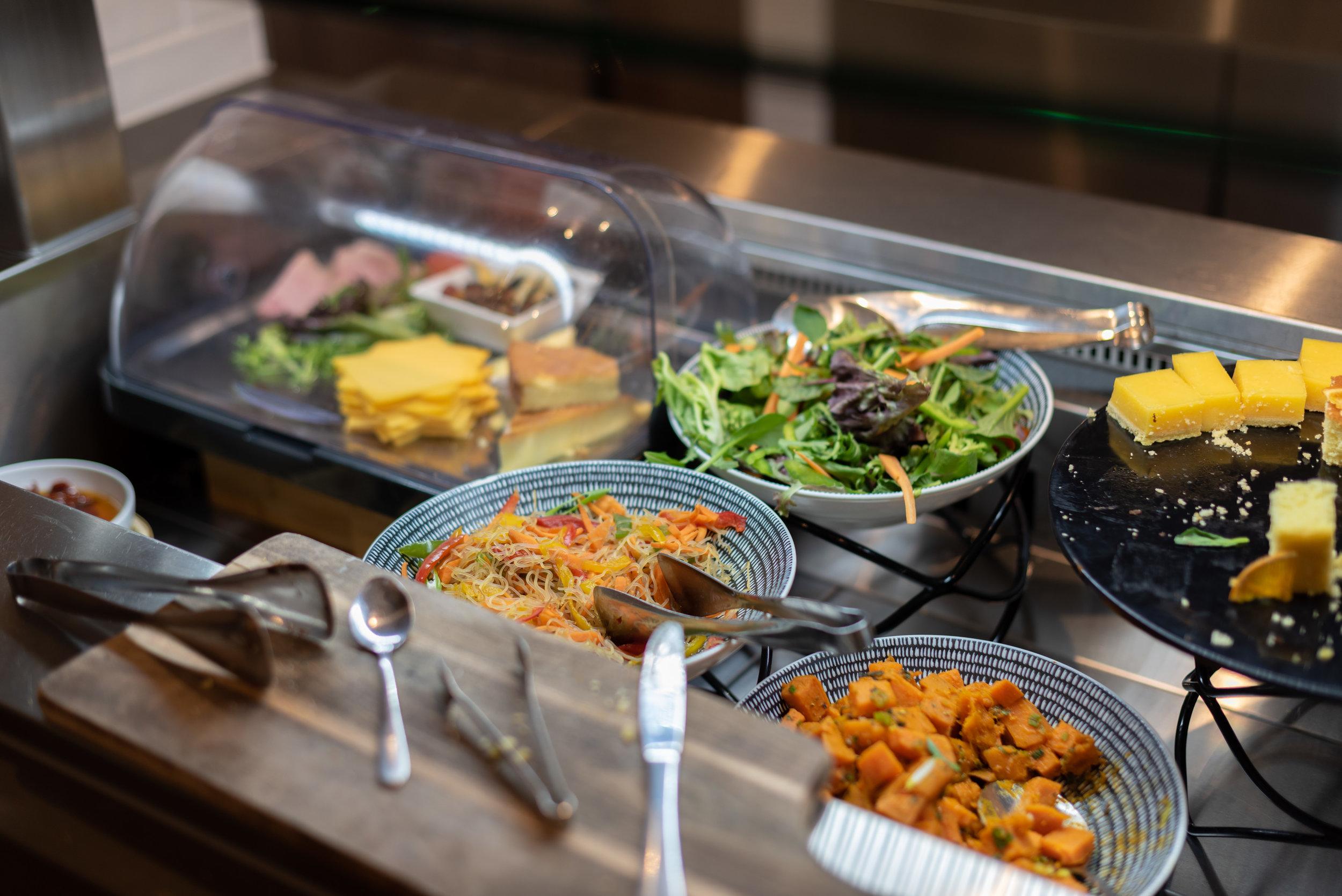 Cold Food Selection  Plaza Premium Lounge - Melbourne Airport (MEL)