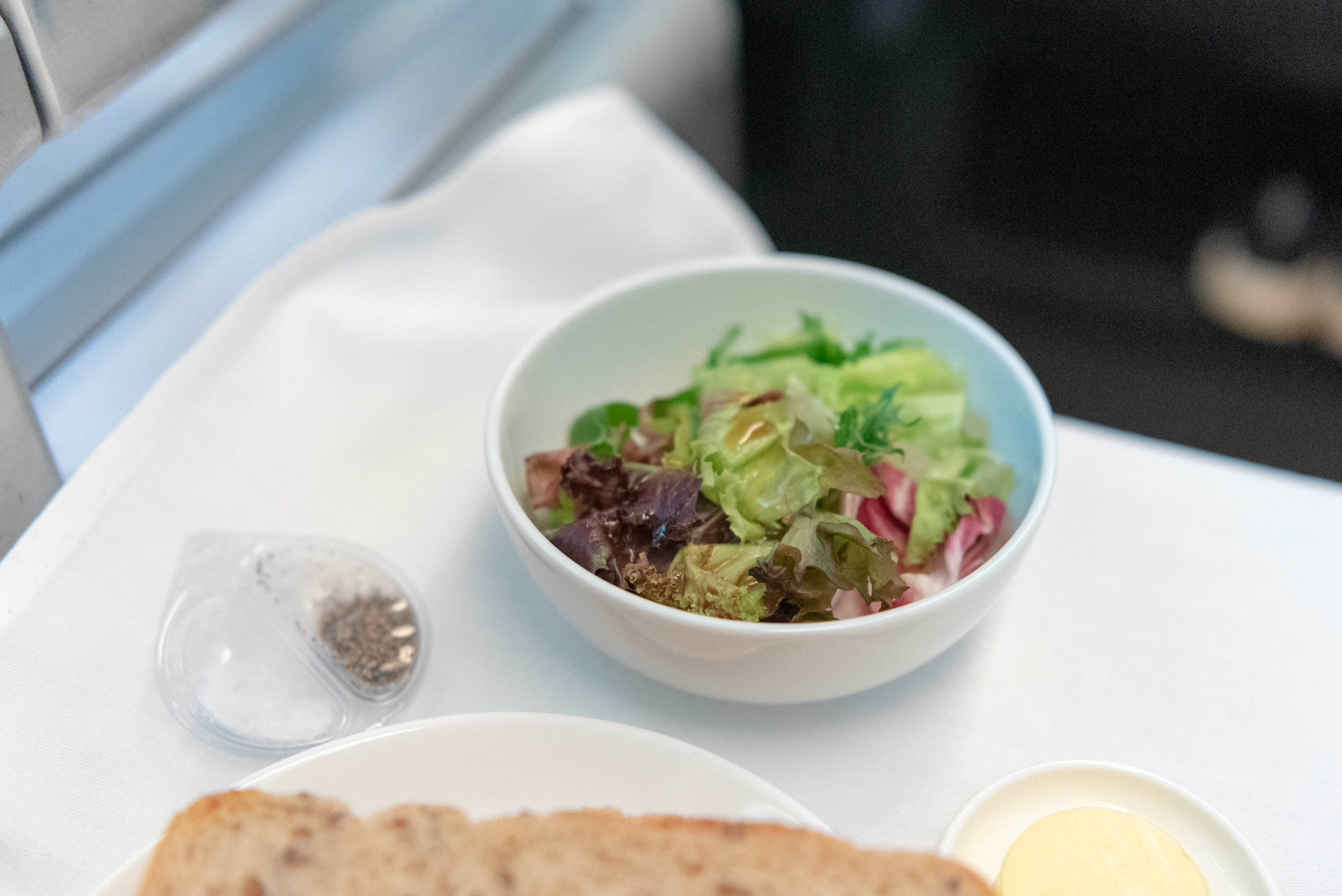 Side Salad  Qantas Business Class QF36 A380-800 - SIN to MEL