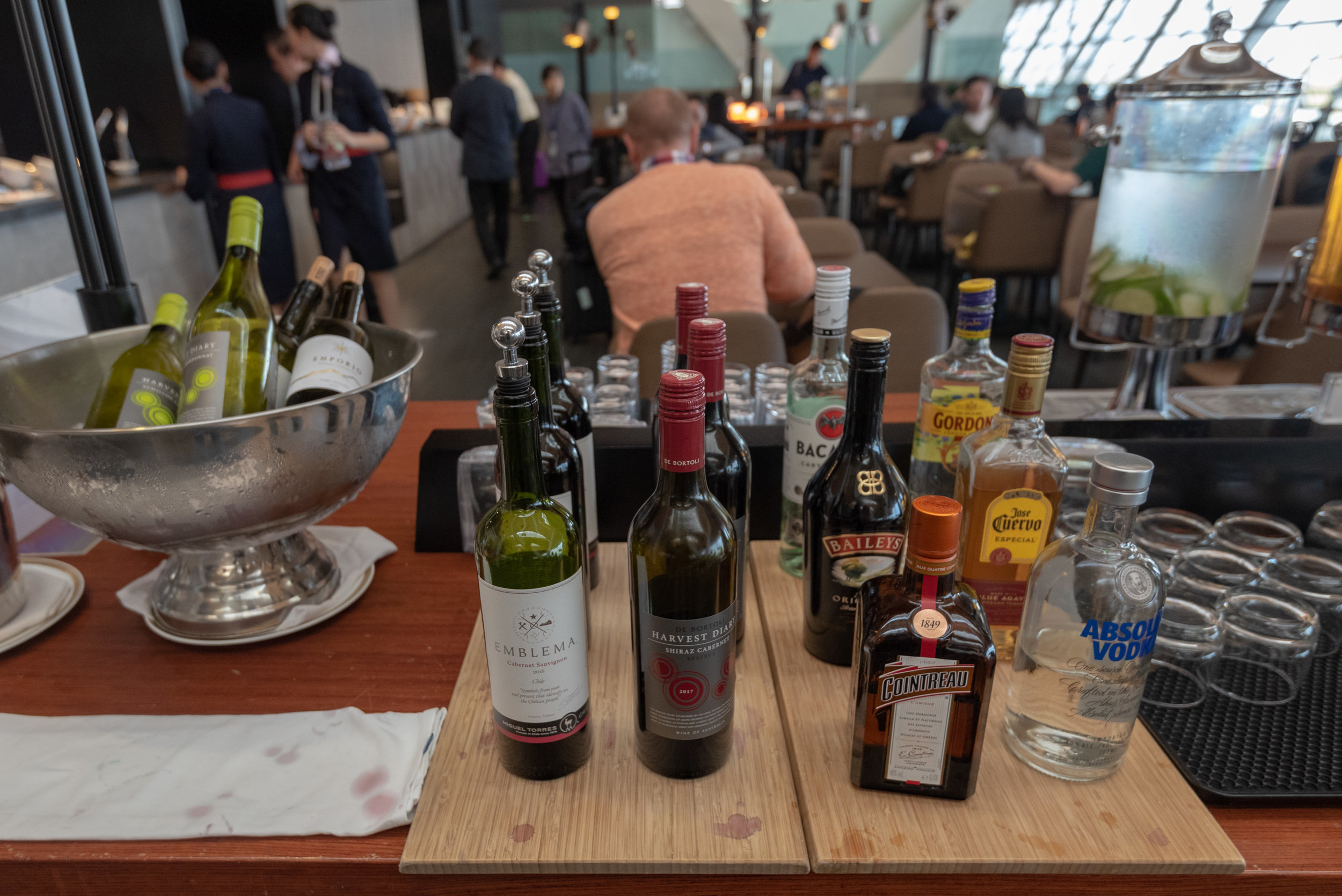 Selection of Alcoholic Beverages  No.77 China Eastern Plaza Premium Lounge - Shanghai Pudong International Airport (PVG)
