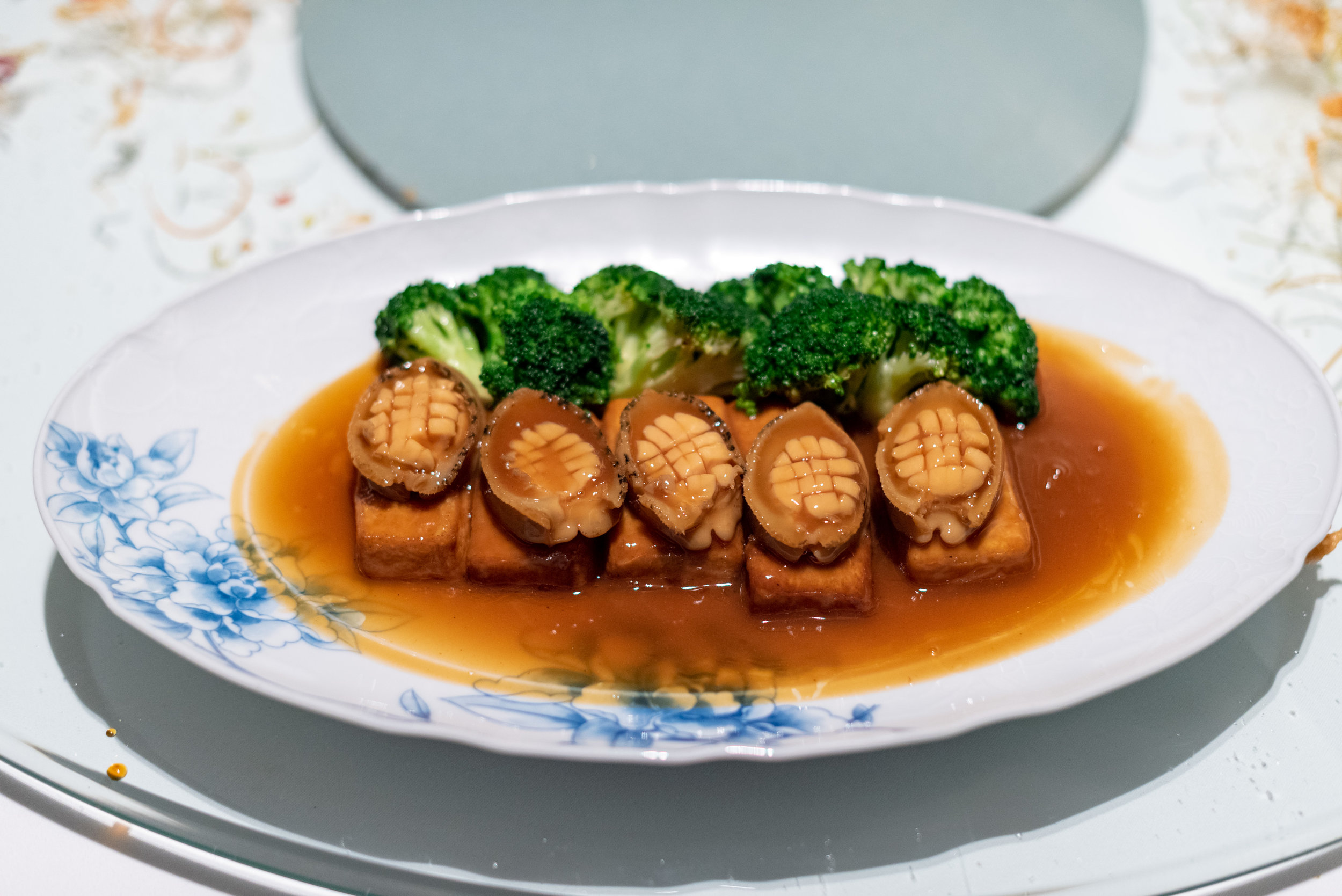 South Africa Abalone and Tofu with Seasonal Vegetables  Madame Fan - The NCO Club