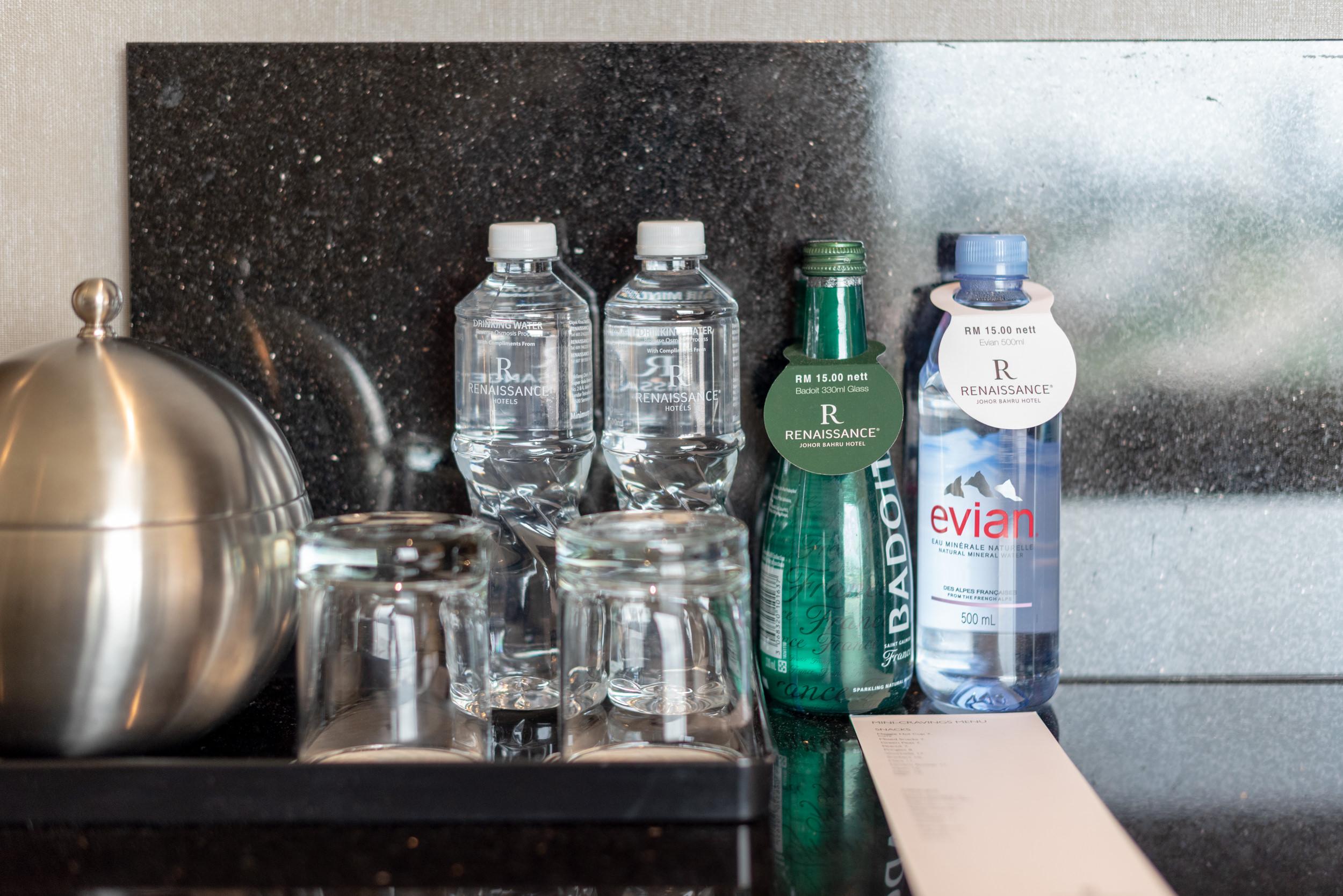 Complimentary Drinking Water  Club Room - Renaissance Johor Bahru Hotel