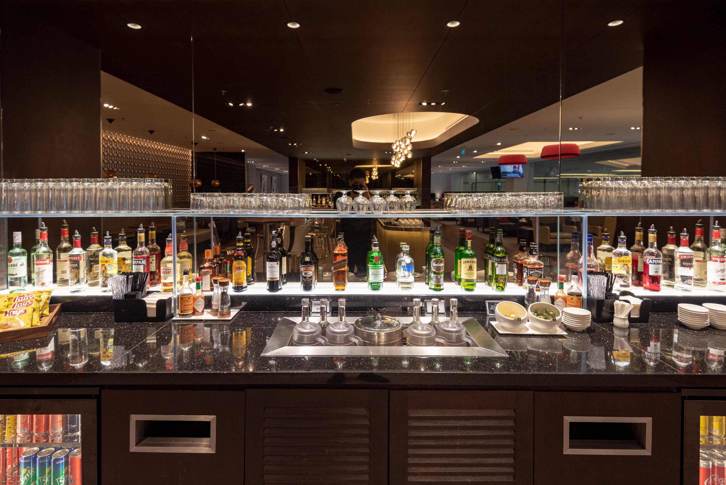 Wide Selection of Spirits and Drinks  British Airways Lounge and Concorde Bar - Singapore Changi Airport (SIN)