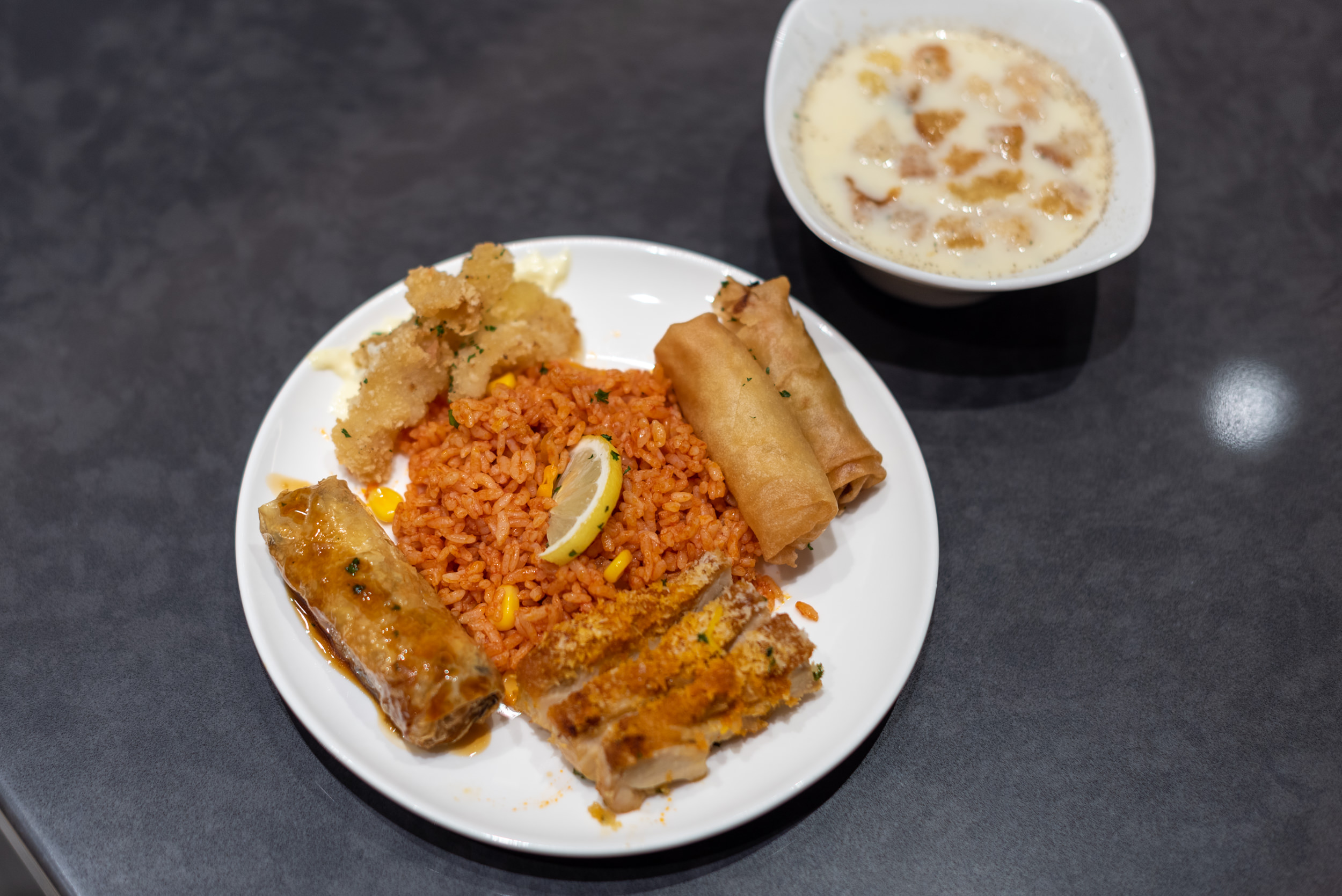 Selection of Hot Food  Premium Lounge (Terminal 2) - Guangzhou Baiyun International Airport (CAN)