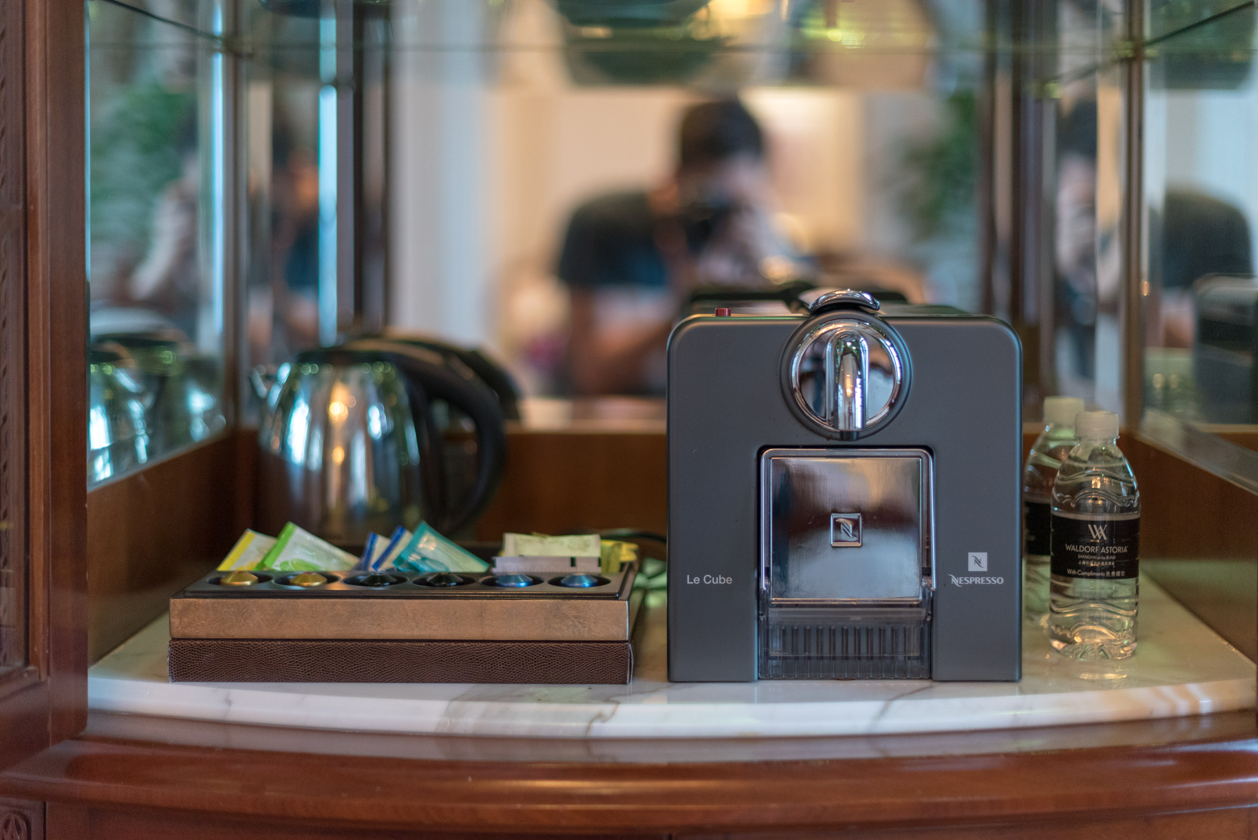 Nespresso Le Cube Machine Heritage Luxury River View Suite - Waldorf Astoria Shanghai on the Bund