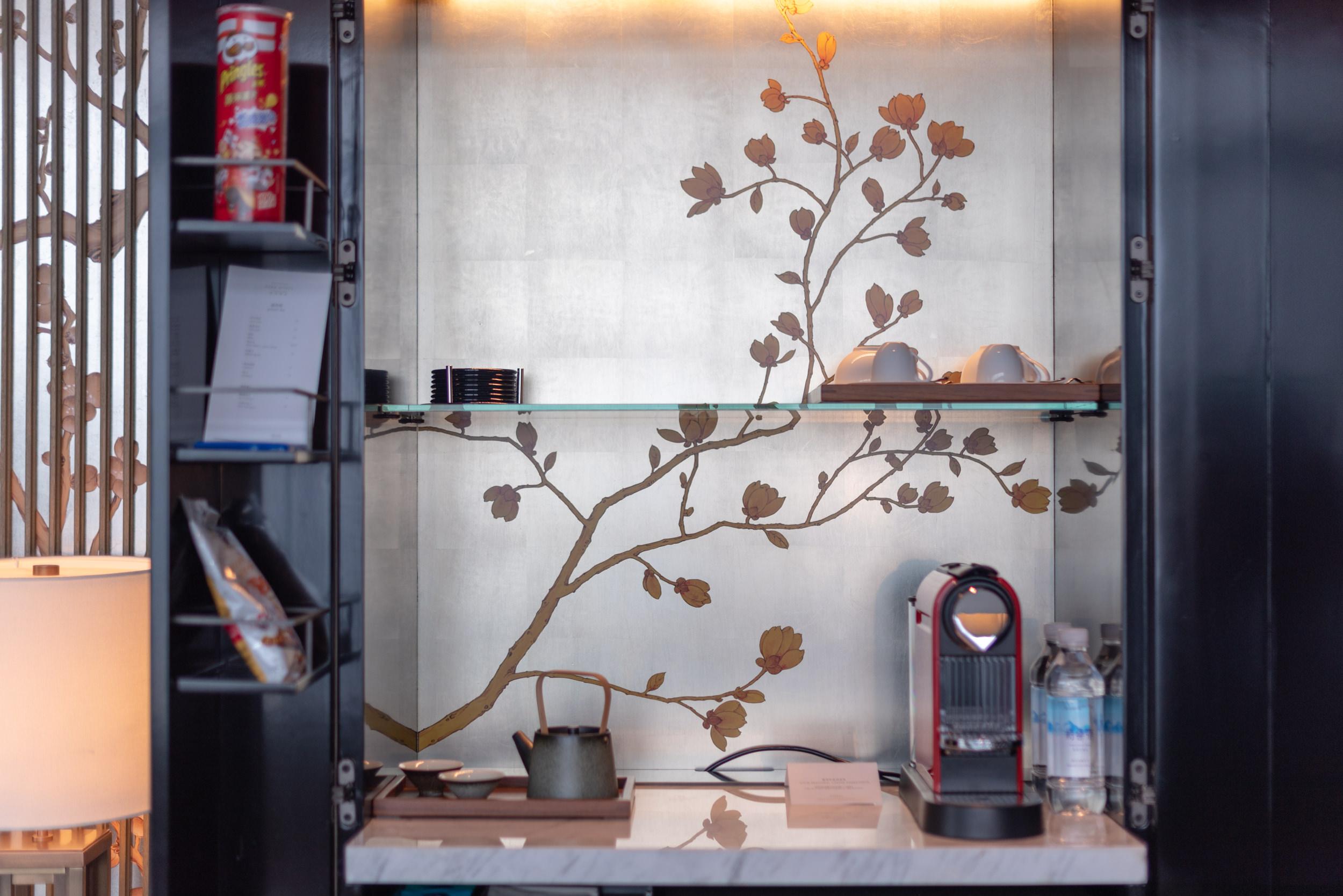 Coffee Machine and Minibar  Deluxe Riverview King - Park Hyatt Hangzhou