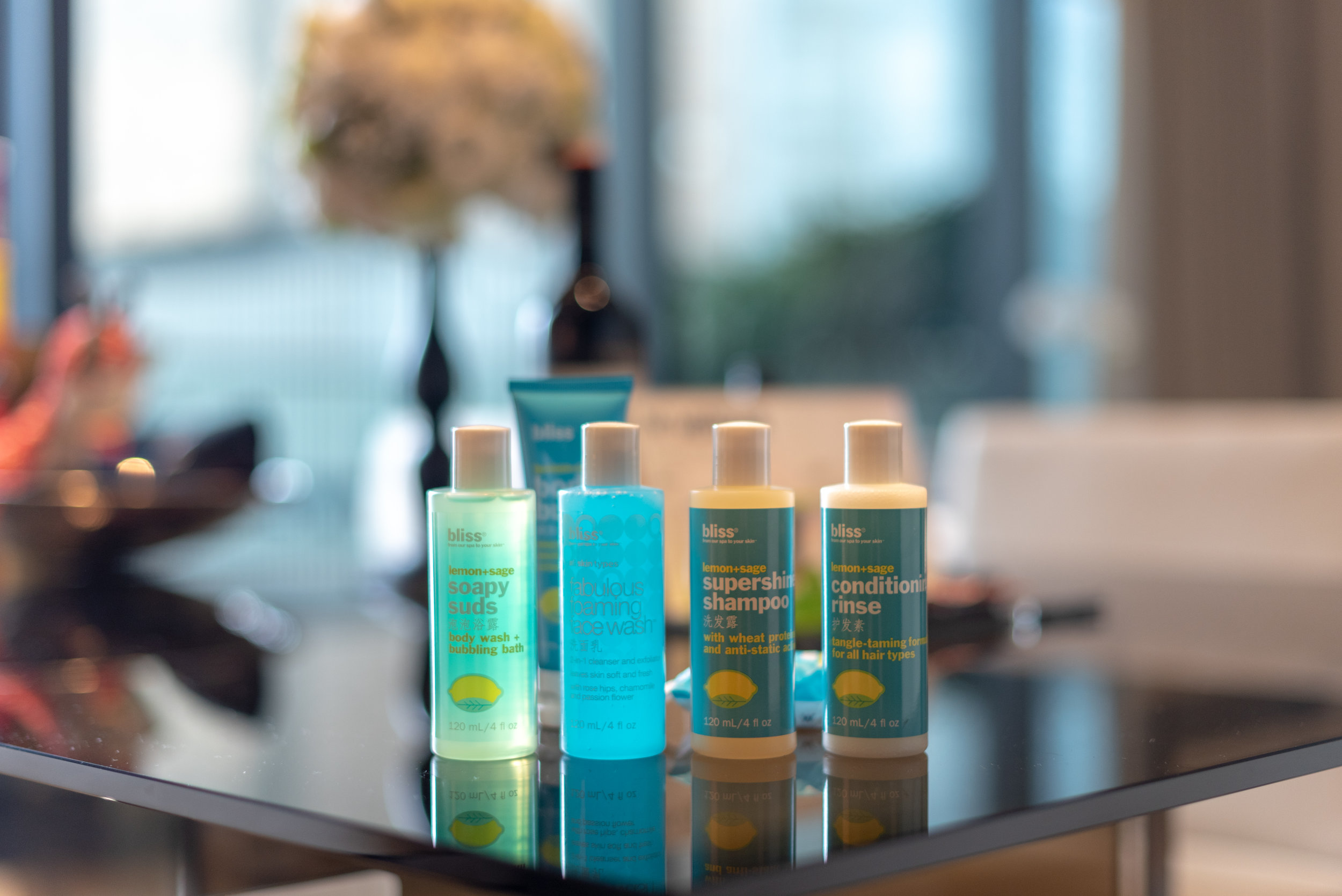 Bath Amenities from Bliss Spa  WOW Suite - W Guangzhou