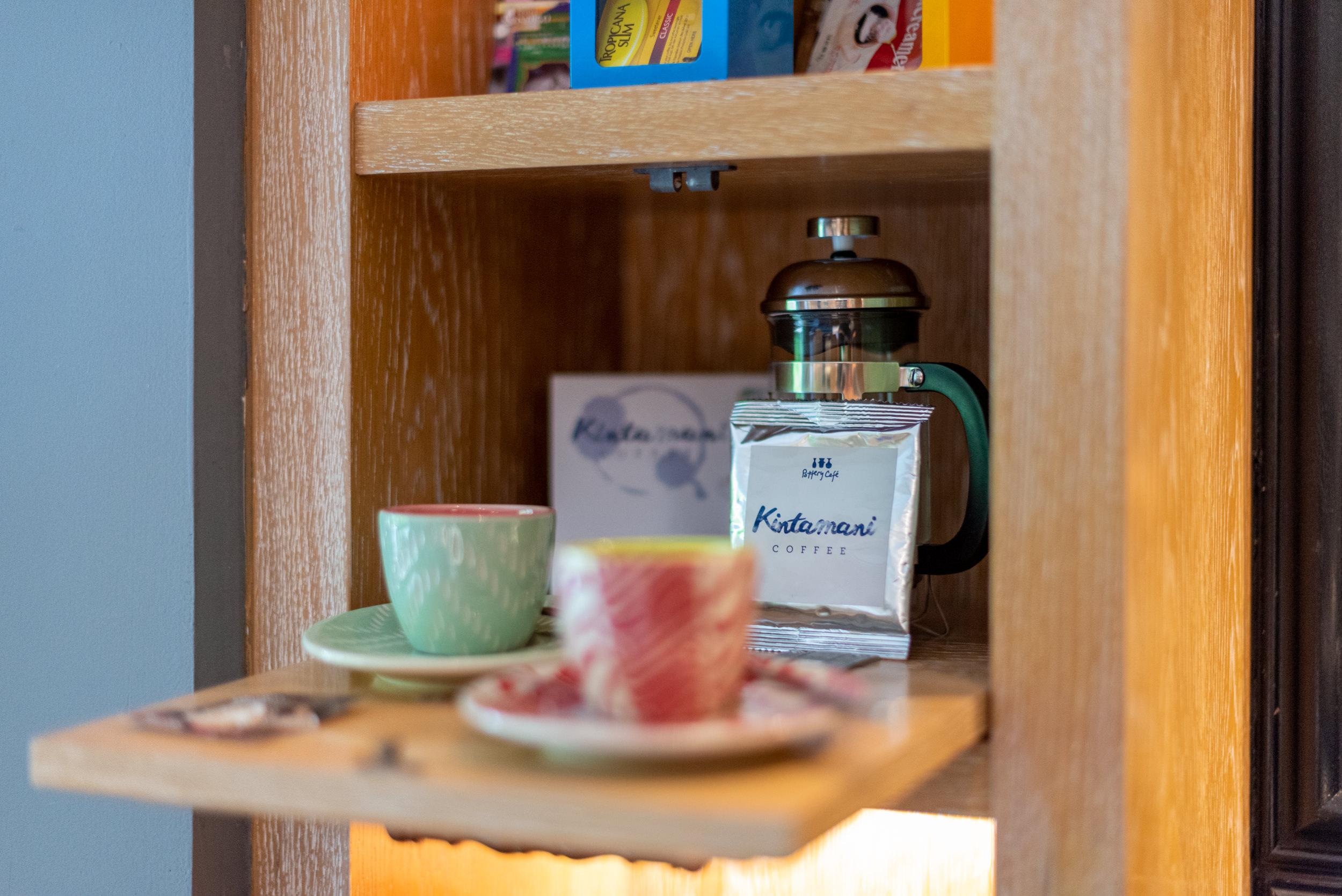 French Press Coffee and Kevala Ceramics  Perada Suite - Hotel Indigo Bali Seminyak Beach