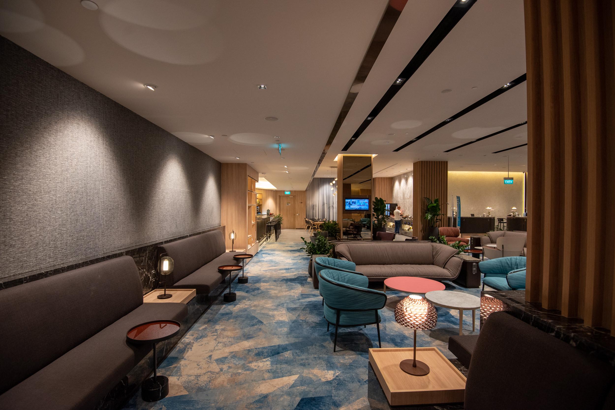 Quieter Seating Area  Changi Lounge - Jewel Changi Airport