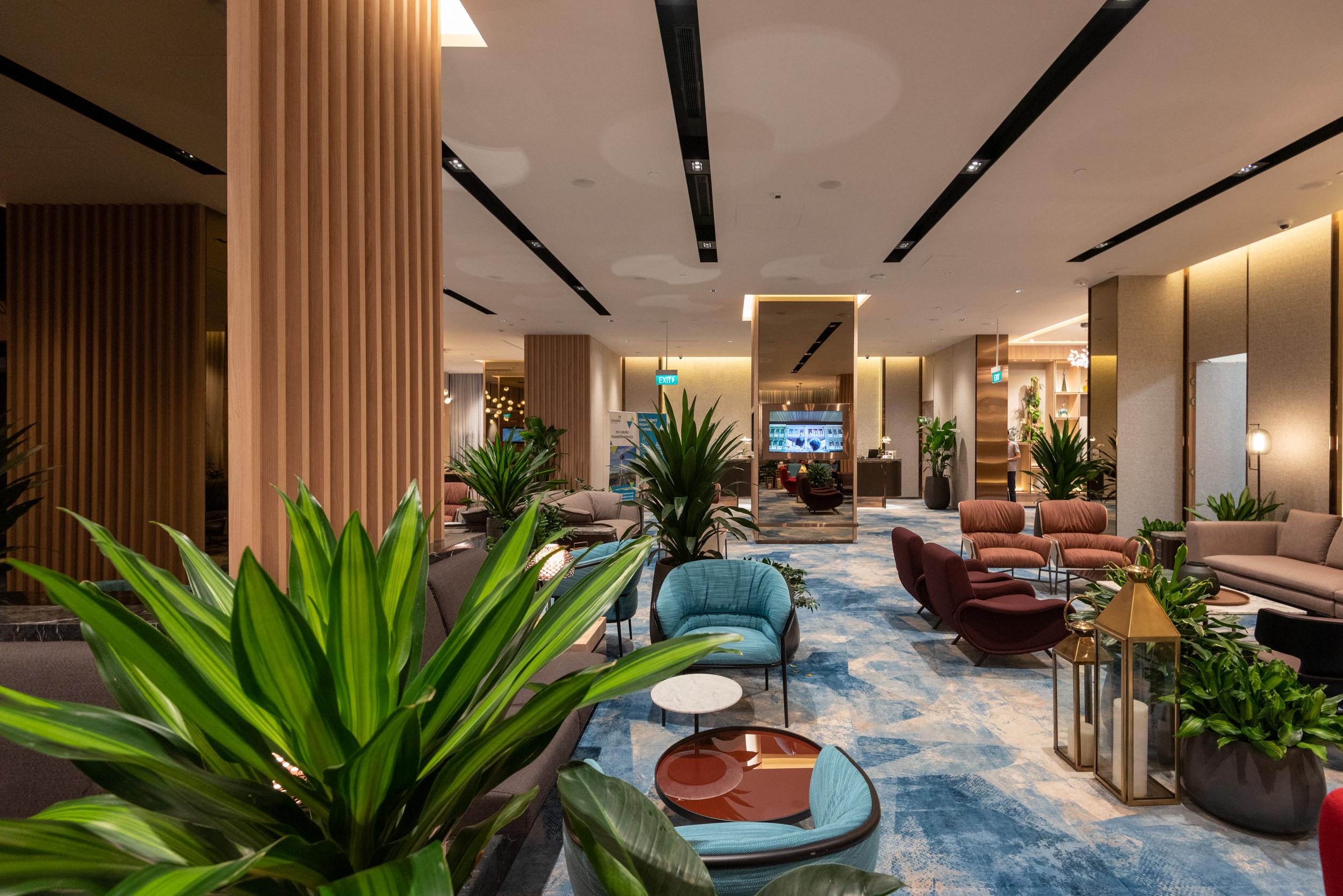 Interiors  Changi Lounge - Jewel Changi Airport