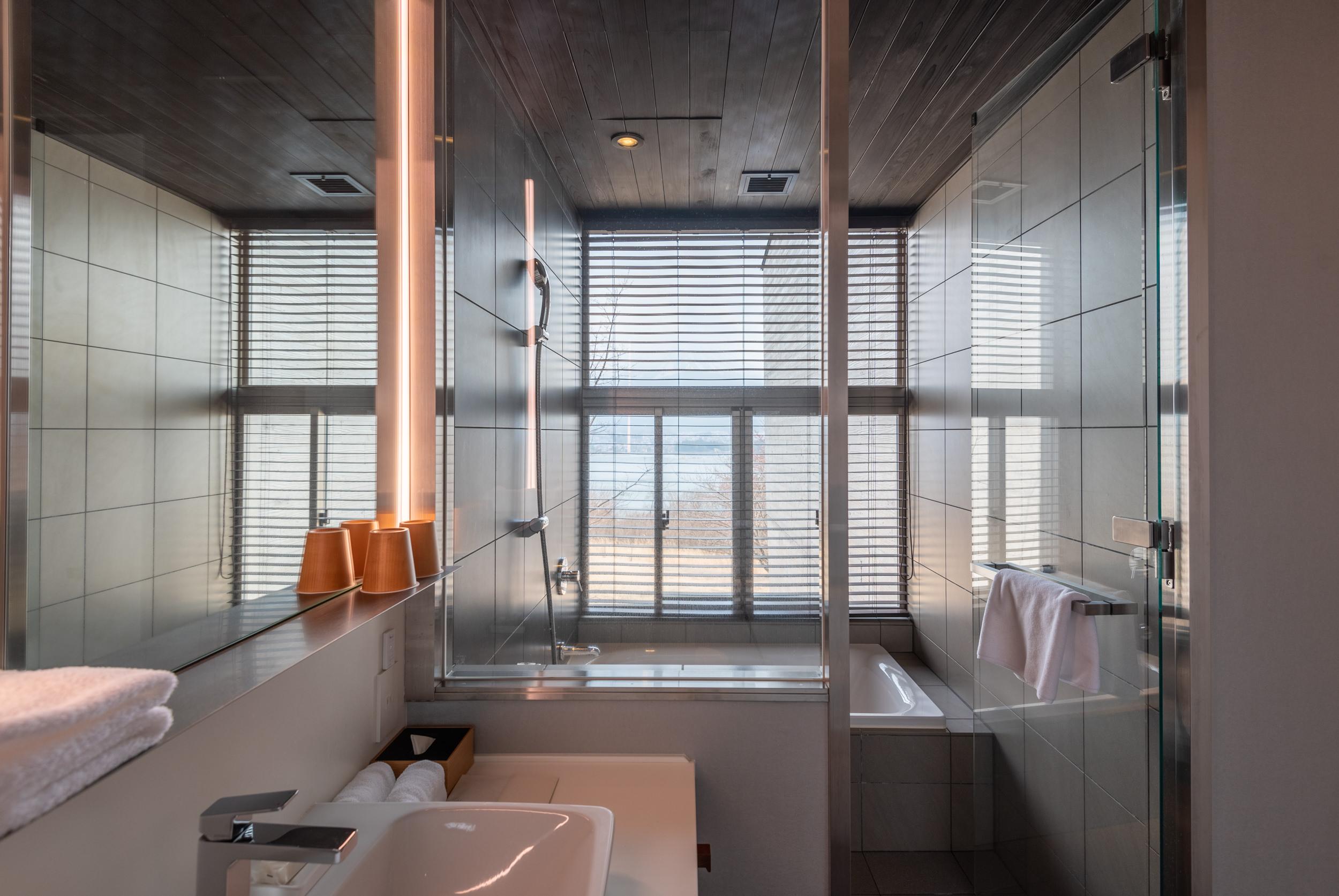 Bathroom with Tub  T Cabin - HOSHINOYA Fuji
