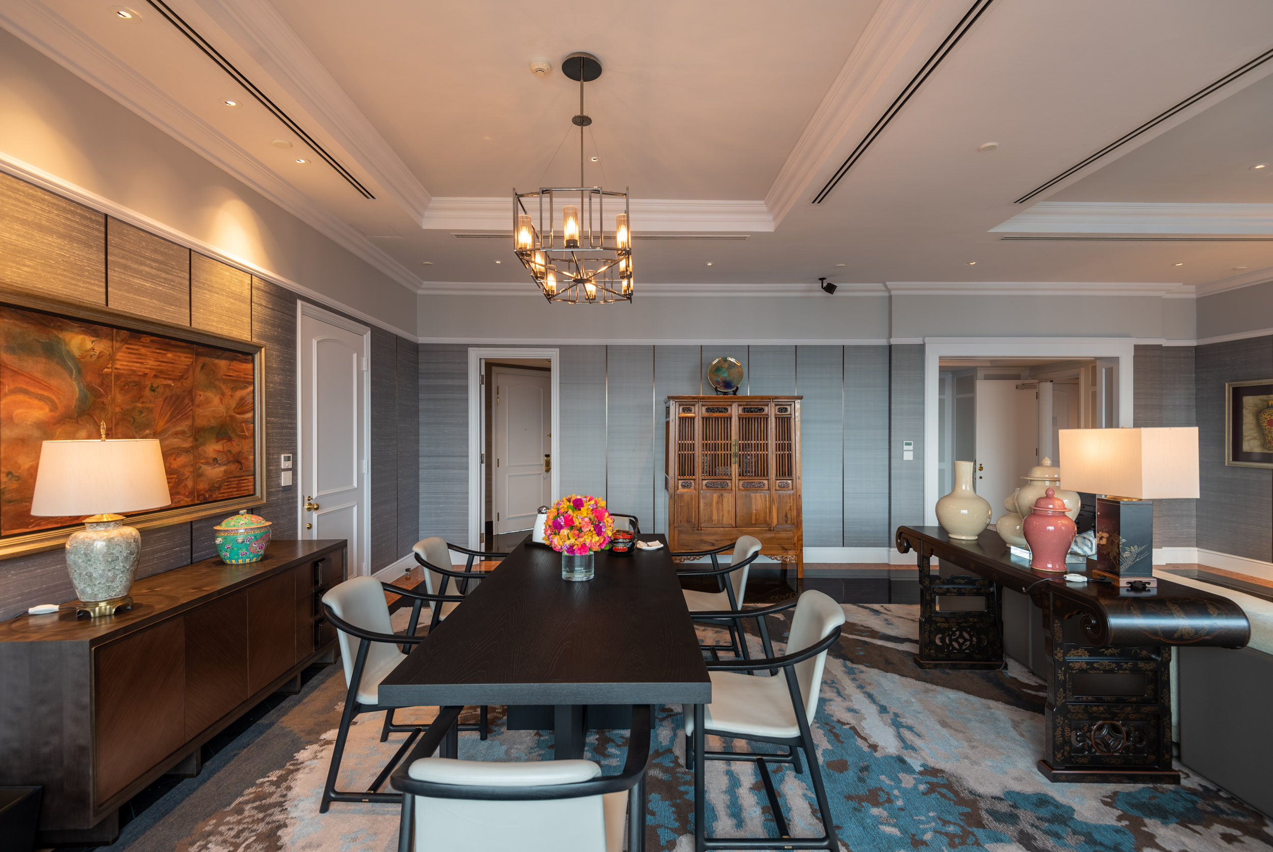 Dining Room  Ambassador One-Bedroom Suite - Four Seasons Hotel Singapore
