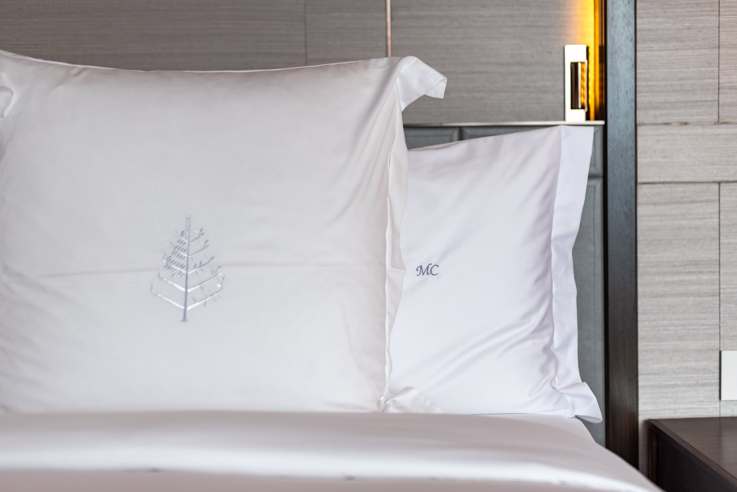Customised Pillow with Initials   Ambassador One-Bedroom Suite - Four Seasons Hotel Singapore