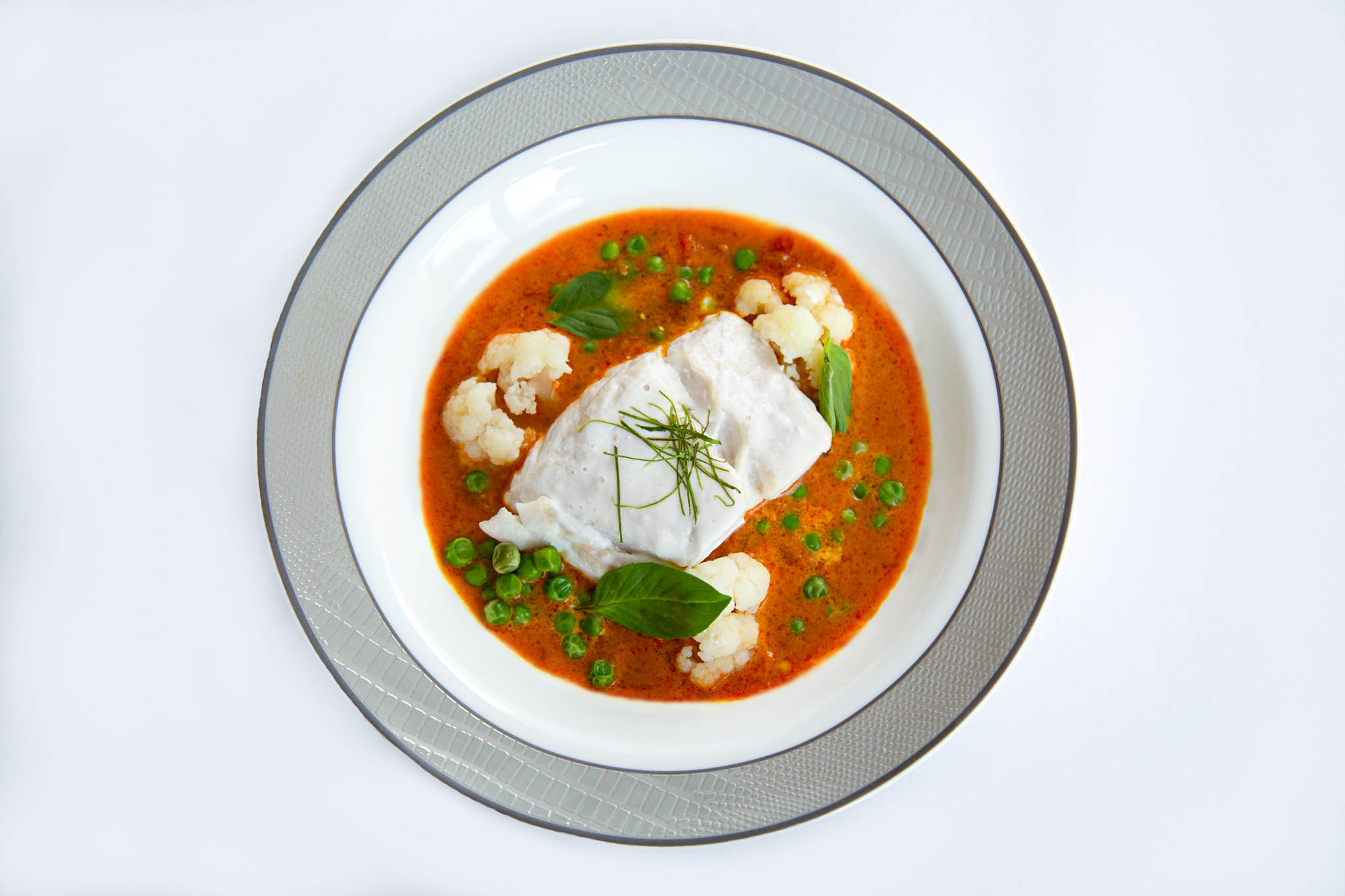 Coconut Poached Fish | Photo Credit: Singapore Airlines