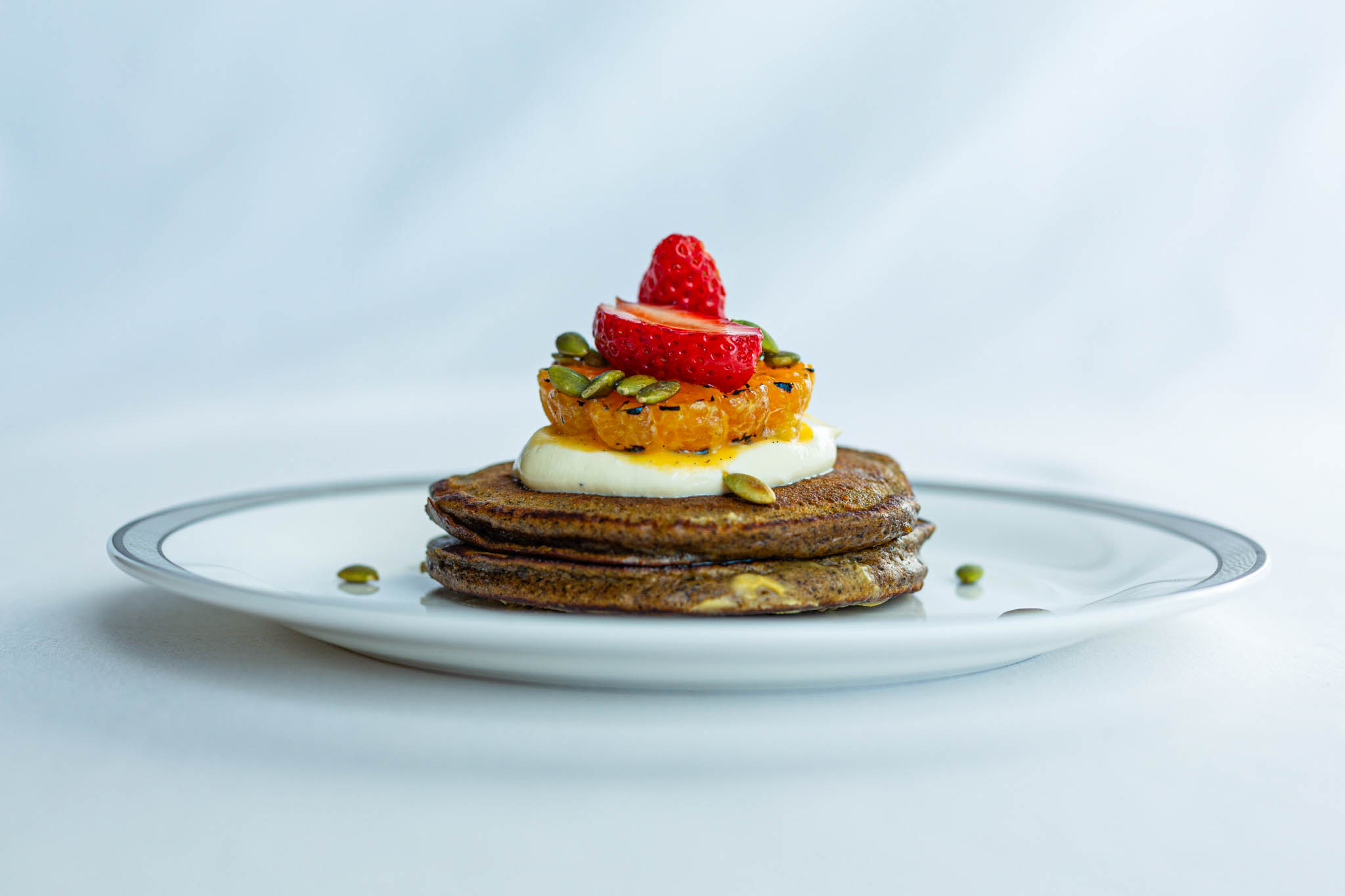 Spiced Buckwheat and Pumpkin Pancakes | Photo Credit: Singapore Airlines