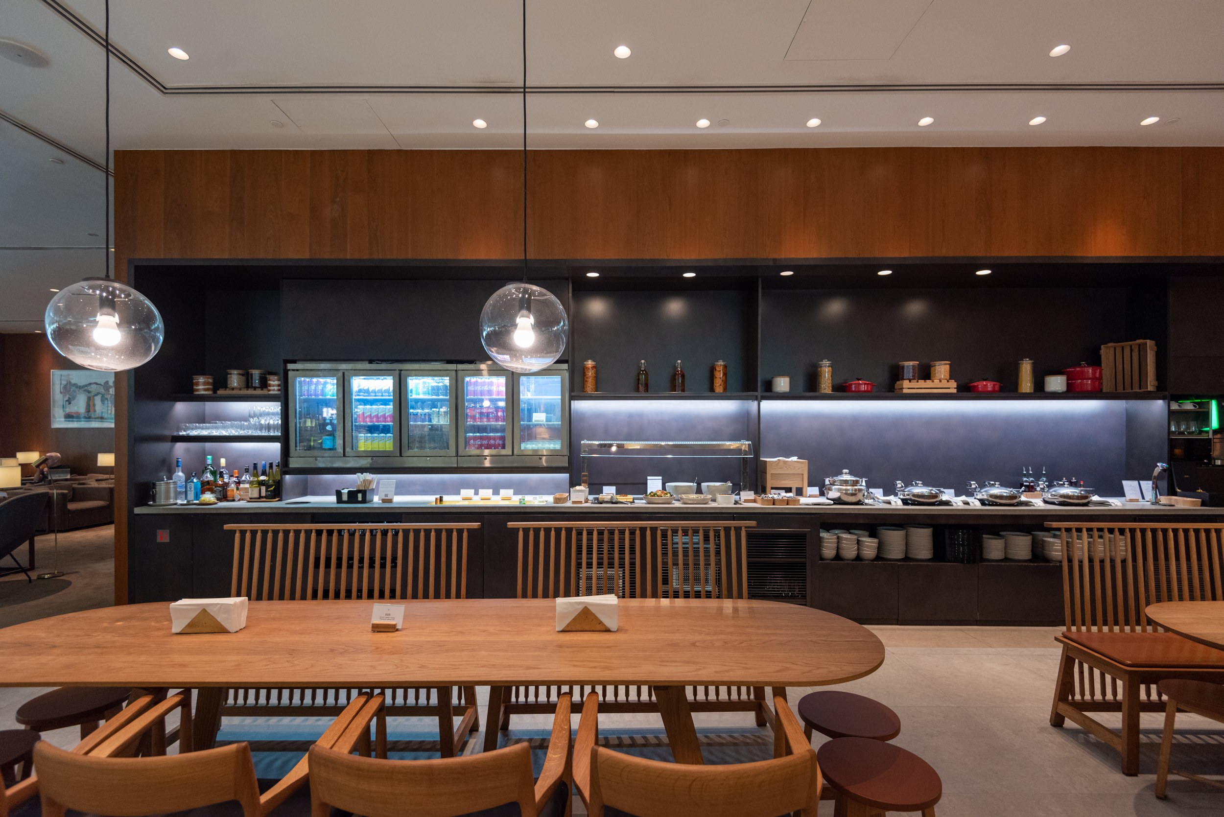 Self-serve Area  Cathay Pacific Lounge (Terminal 4) - Singapore Changi Airport (SIN)