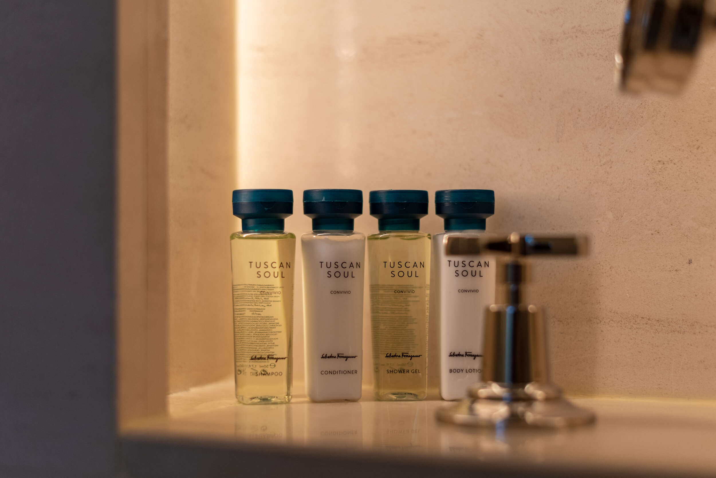 Bath Amenities from Salvatore Ferragamo  Terrace Room - The Capitol Kempinski Hotel Singapore