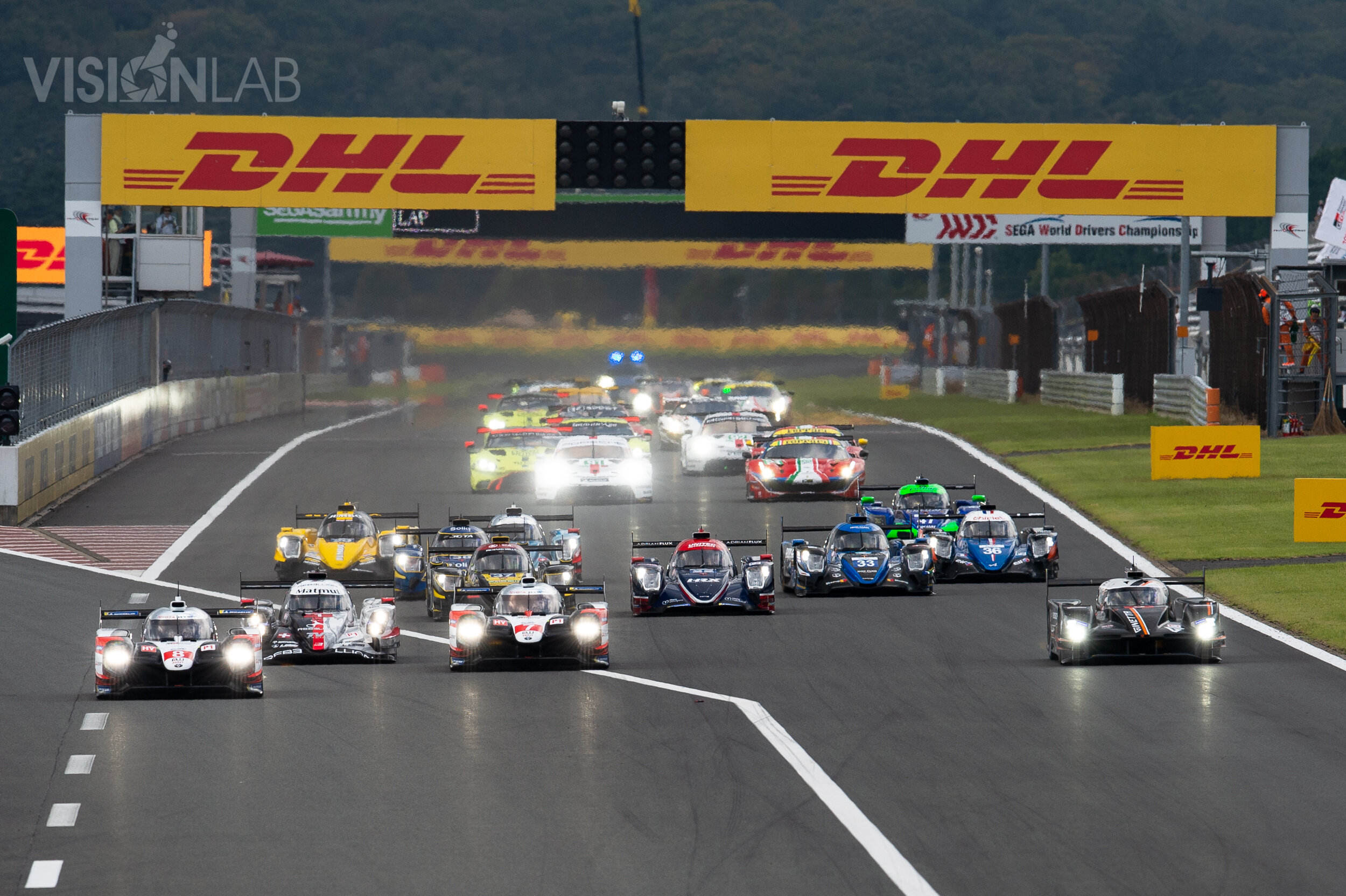 Drivers start your engines! The start of the 2019 WEC 6h of Fuji.