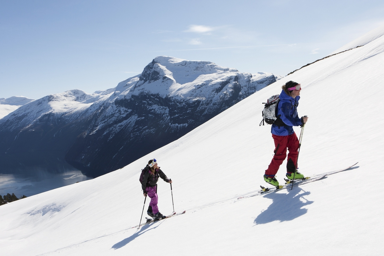 Skiing in Geirangerfjord