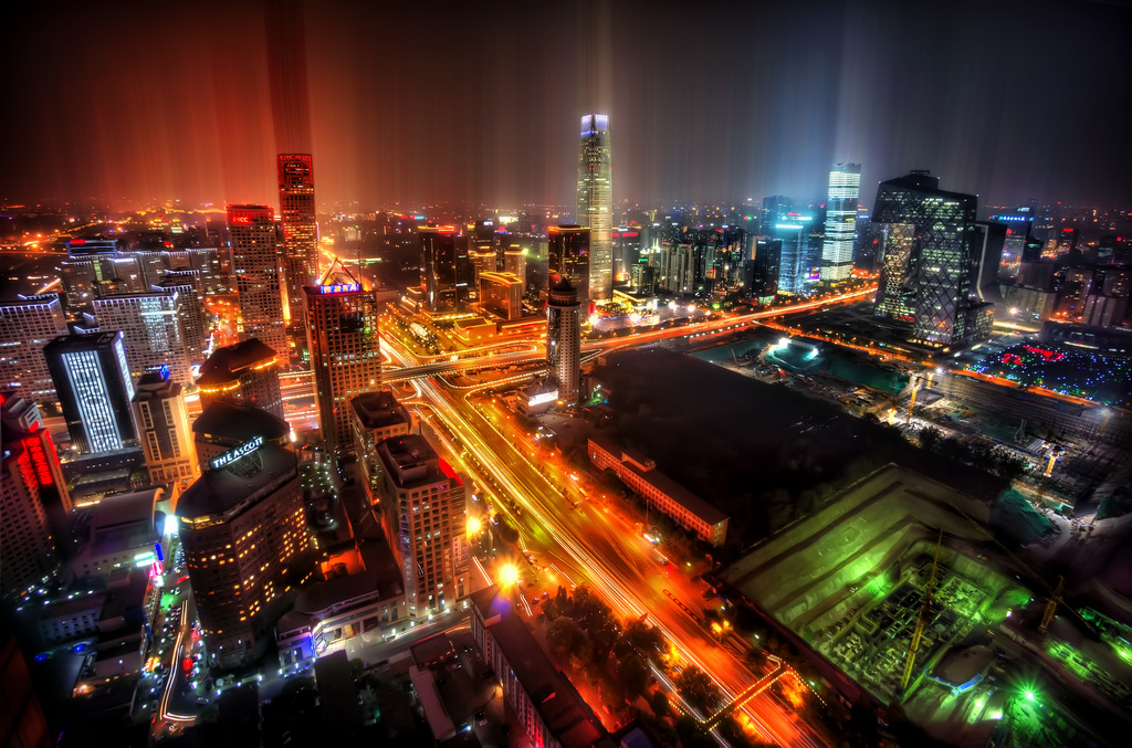 Beijing CBD. Photo by T. Ratcliff.  Some rights reserved .