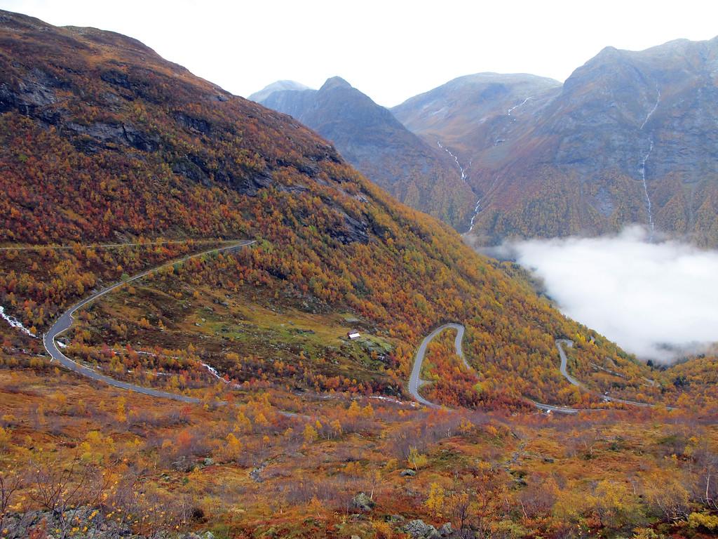 Gaularfjellet, October 7th. Photo by Bjørn Andresen / Statens Vegvesen.
