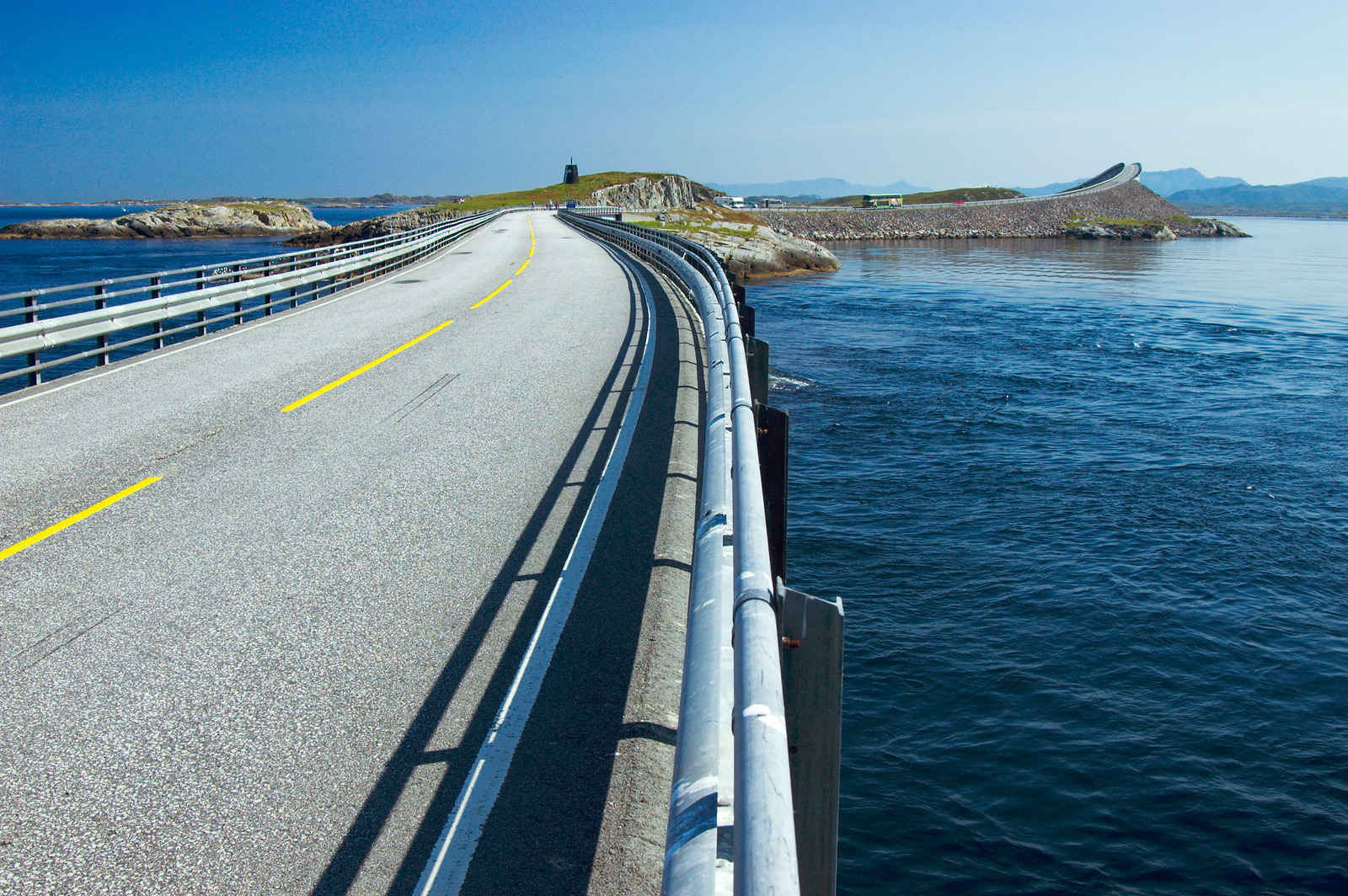Atlantic Road - Atlanterhavsvegen, June 27th. Photo by Jarle Wæhler, Statens Vegvesen.
