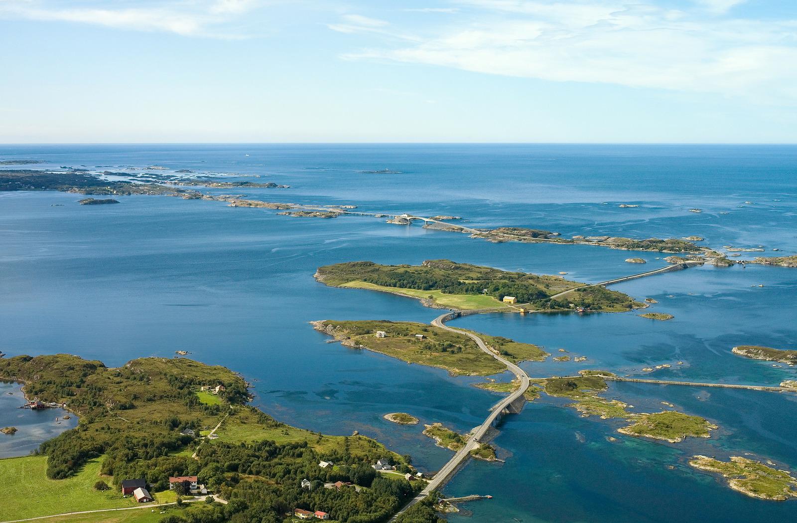 Atlantic Road / Atlanterhavsvegen, August 29th. Photo by Harald Mowinckel / Statens Vegvesen.